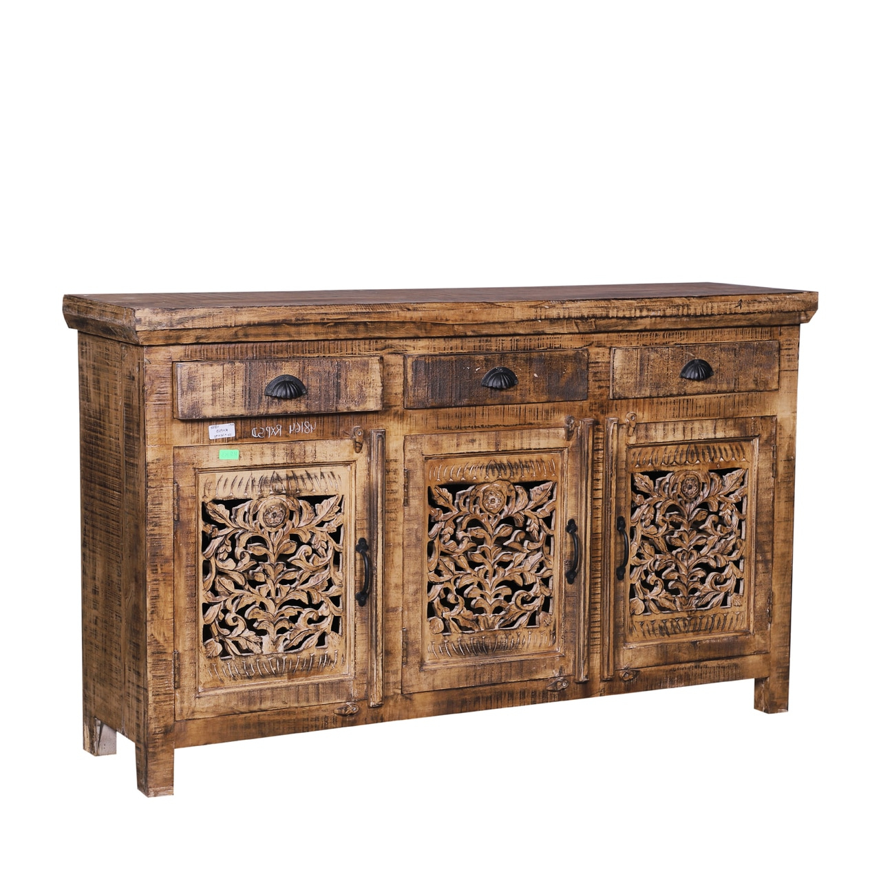 Latest Carved Door Credenza Sideboard Buffets – Reclaimed Wood Furniture Regarding Carved 4 Door Metal Frame Sideboards (View 13 of 20)