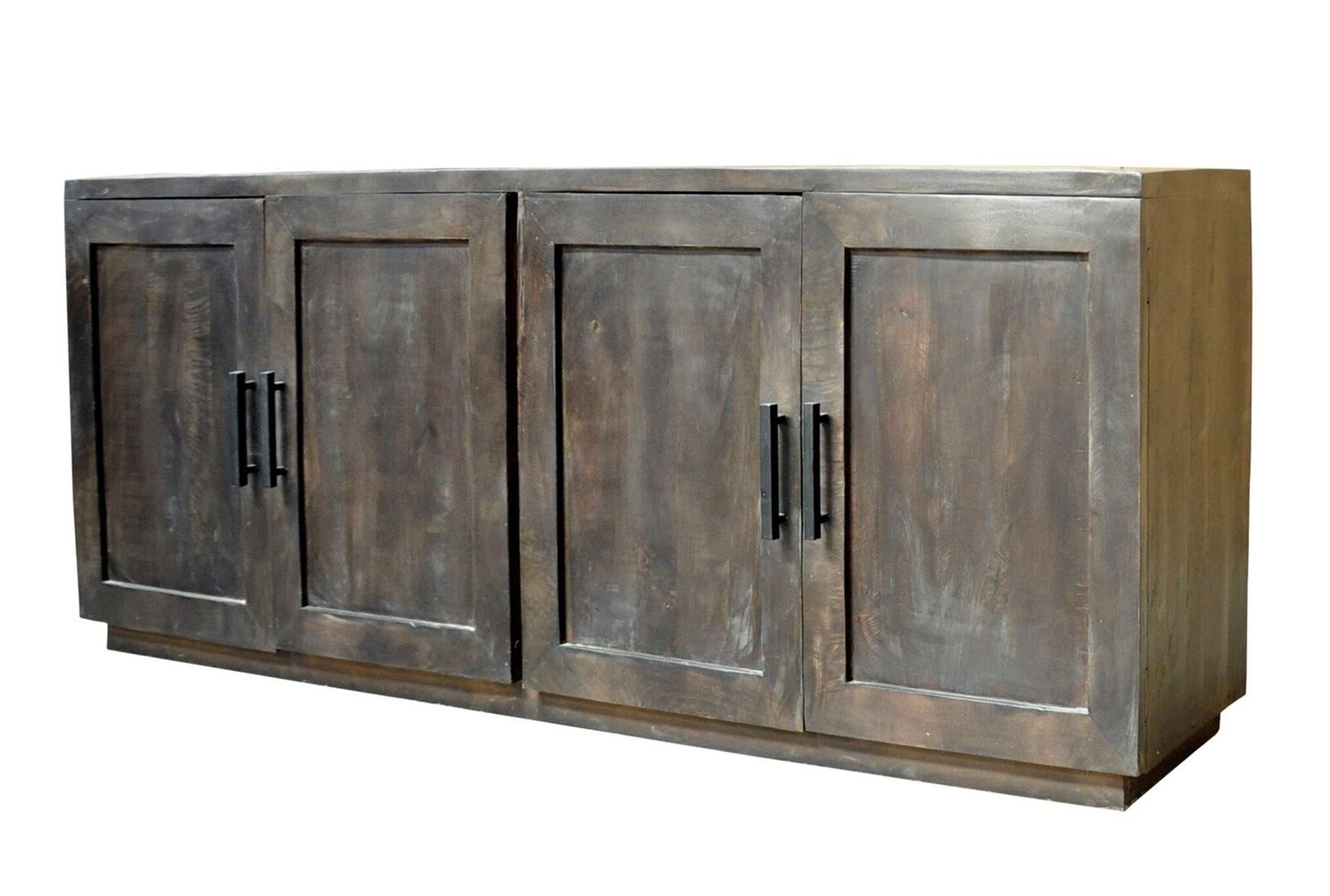 Latest Charcoal Finish 4 Door Jumbo Sideboard (View 7 of 20)