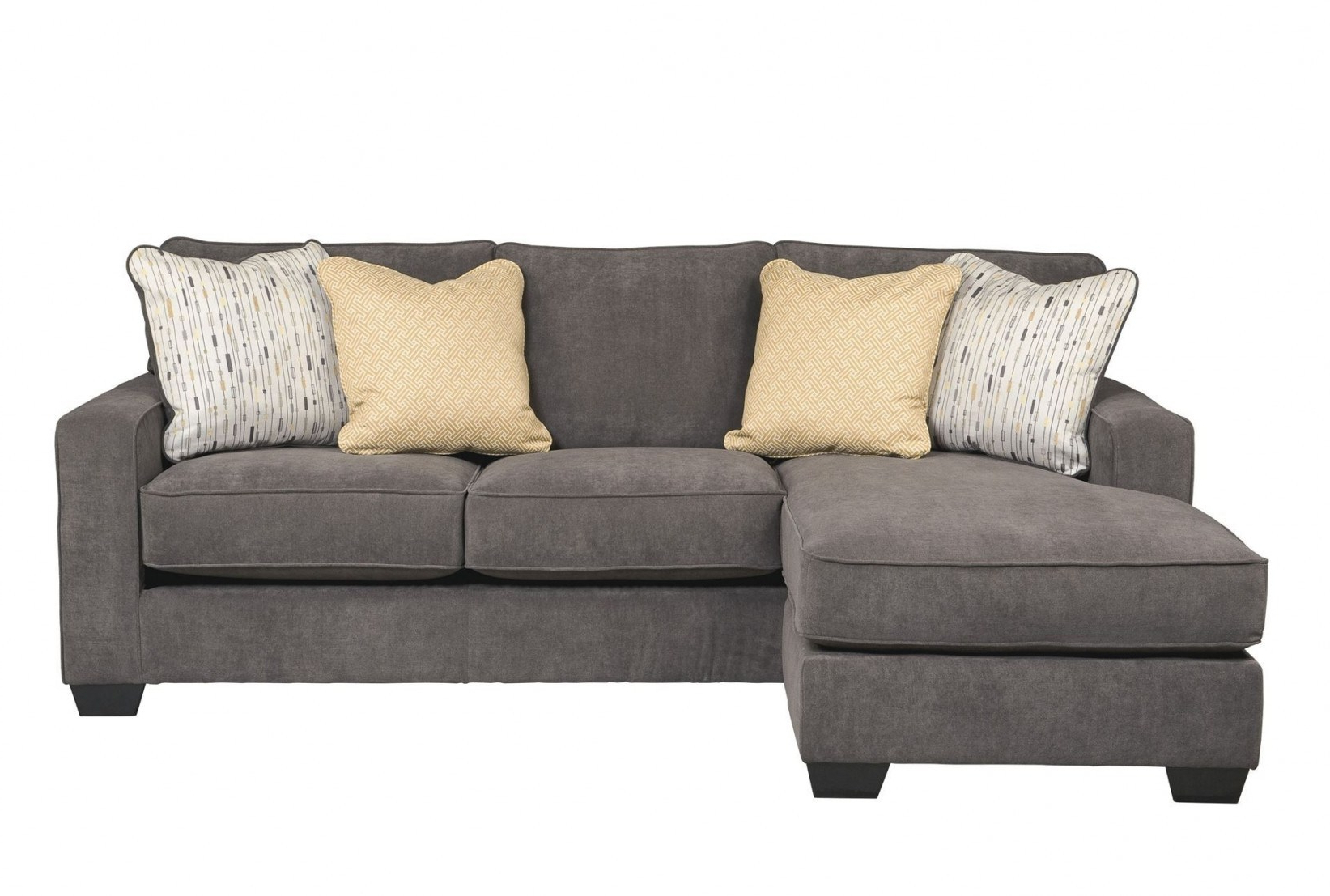 Latest Considerable Buy Living Spaces Living Spaces Zella Charcoal Chaise Inside Turdur 3 Piece Sectionals With Raf Loveseat (View 8 of 20)