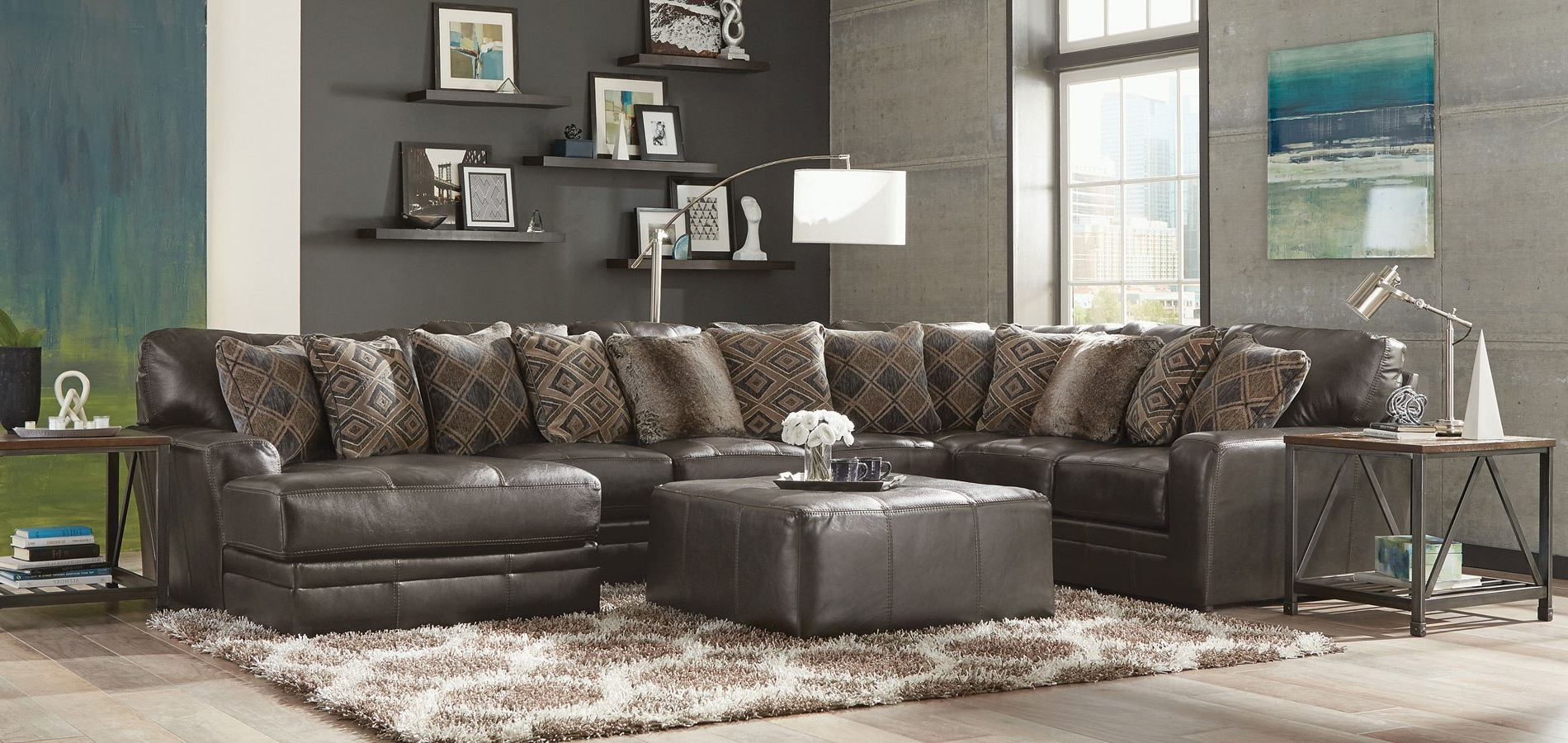 Latest Denali Charcoal Grey 6 Piece Reclining Sectionals With 2 Power Headrests With Denali Modular Sectional (steel) – Living Room Furniture – Living (View 9 of 20)