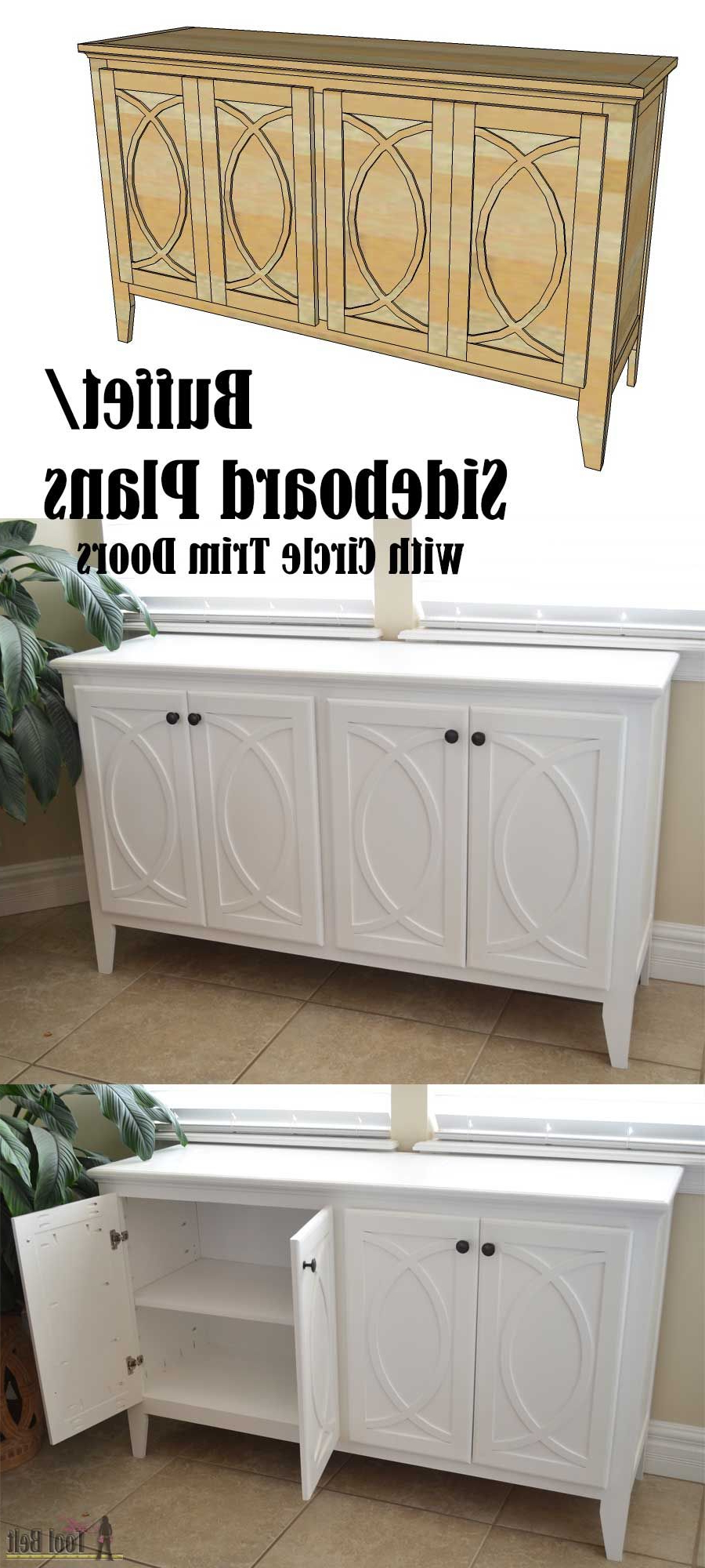 Latest Diy Buffet Sideboard With Circle Trim Doors (View 3 of 20)