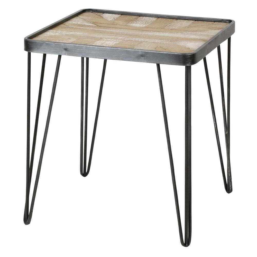 Latest Felton Gray End Table 9604 – The Home Depot In Inverted Triangle Coffee Tables (View 12 of 20)