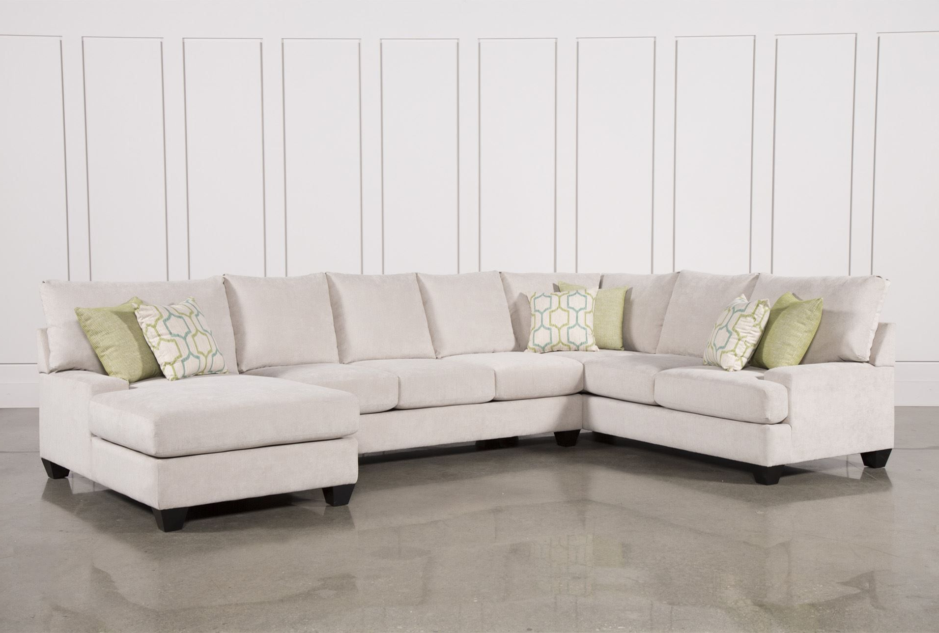 Latest Harper Foam 3 Piece Sectional W/raf Chaise In  (View 6 of 20)