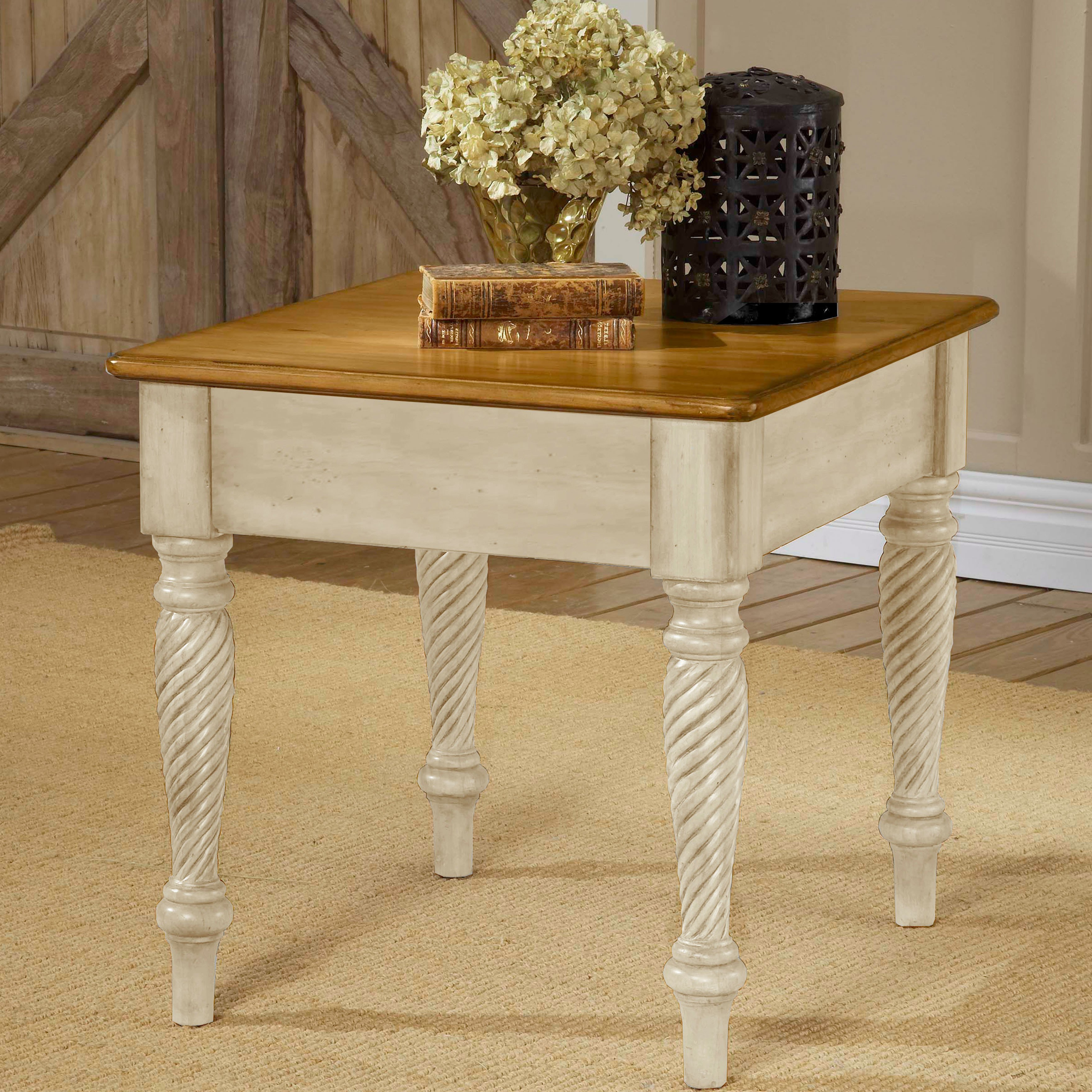 Latest Hillsdale Furniture Wilshire Antique White End Table – Free Shipping Pertaining To Wilshire Cocktail Tables (View 10 of 20)