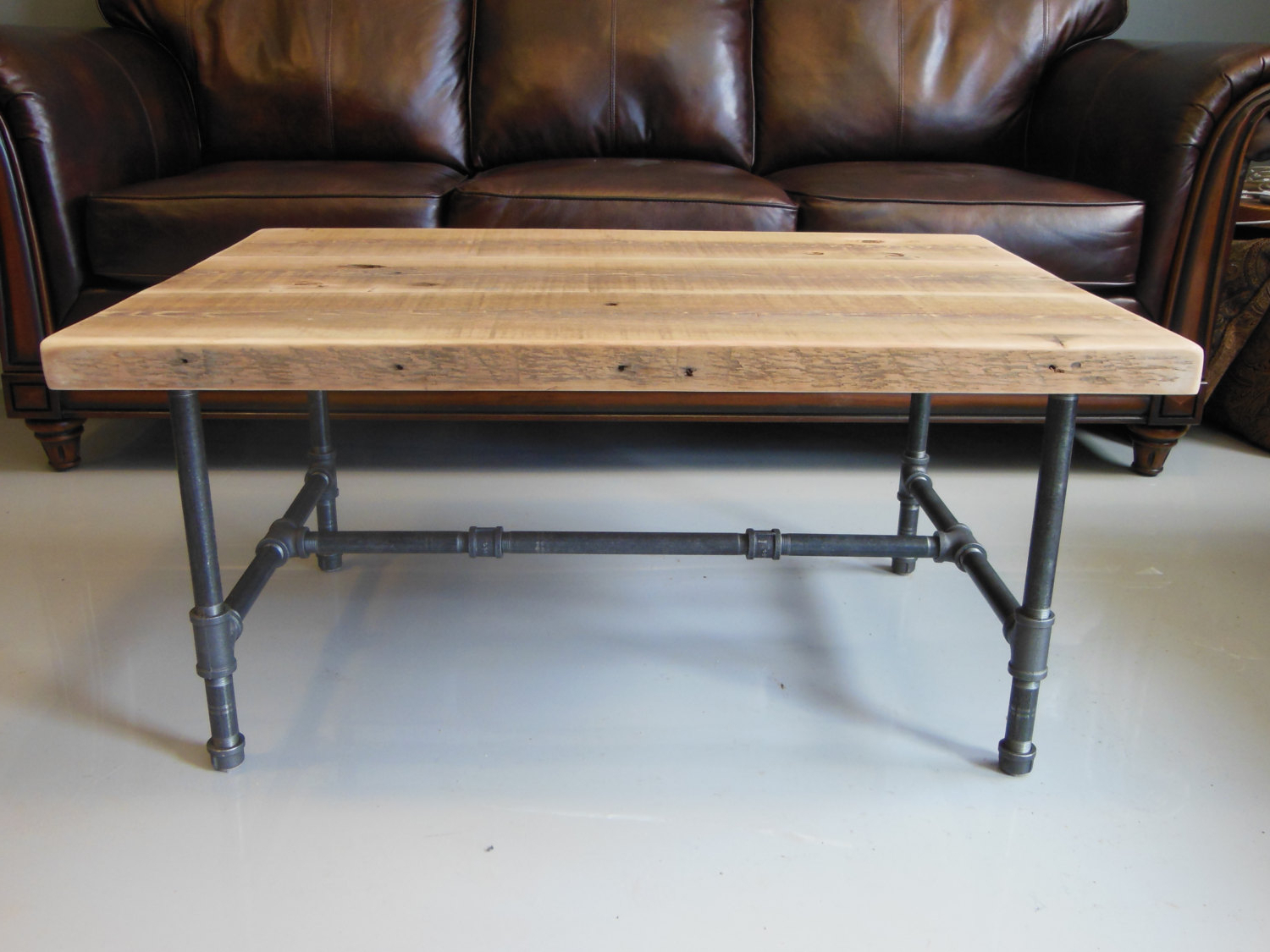 Latest Iron Wood Coffee Tables With Wheels Regarding Wood Coffee Table Legs Industrial – Thelightlaughed (Gallery 2 of 20)