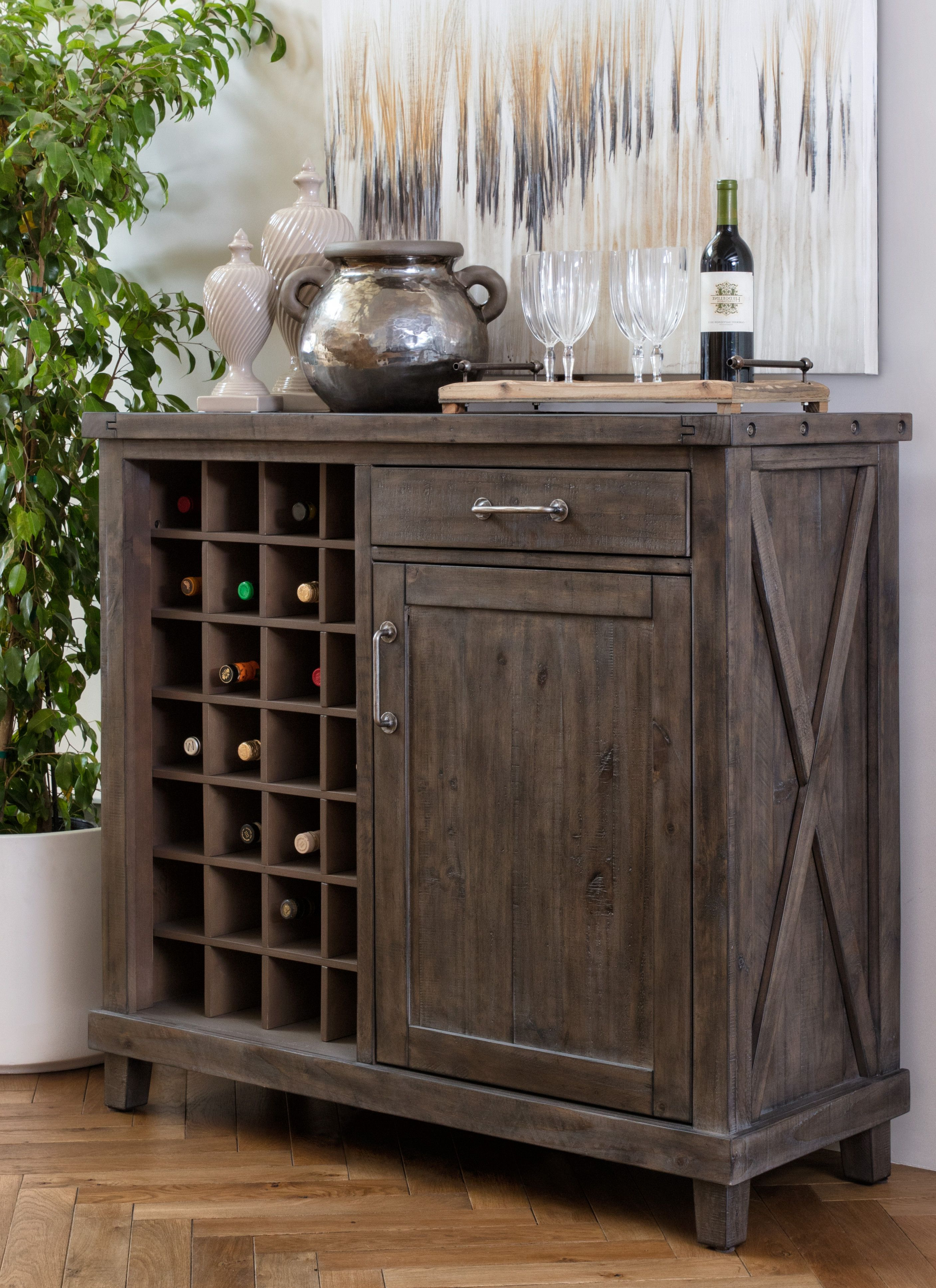 Latest Jaxon Grey Sideboards Pertaining To Jaxon Grey Wine Cabinet In 2018 (Gallery 2 of 20)