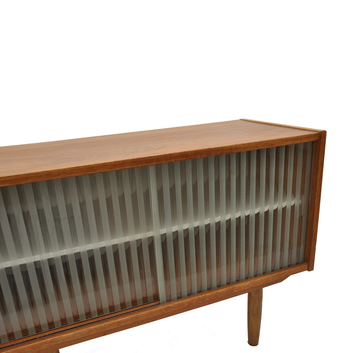 Latest Kai Small Coffee Tables Inside Kai Kristiansen Glass Door Oak Credenza 1960's – Andersbrowne (View 11 of 20)