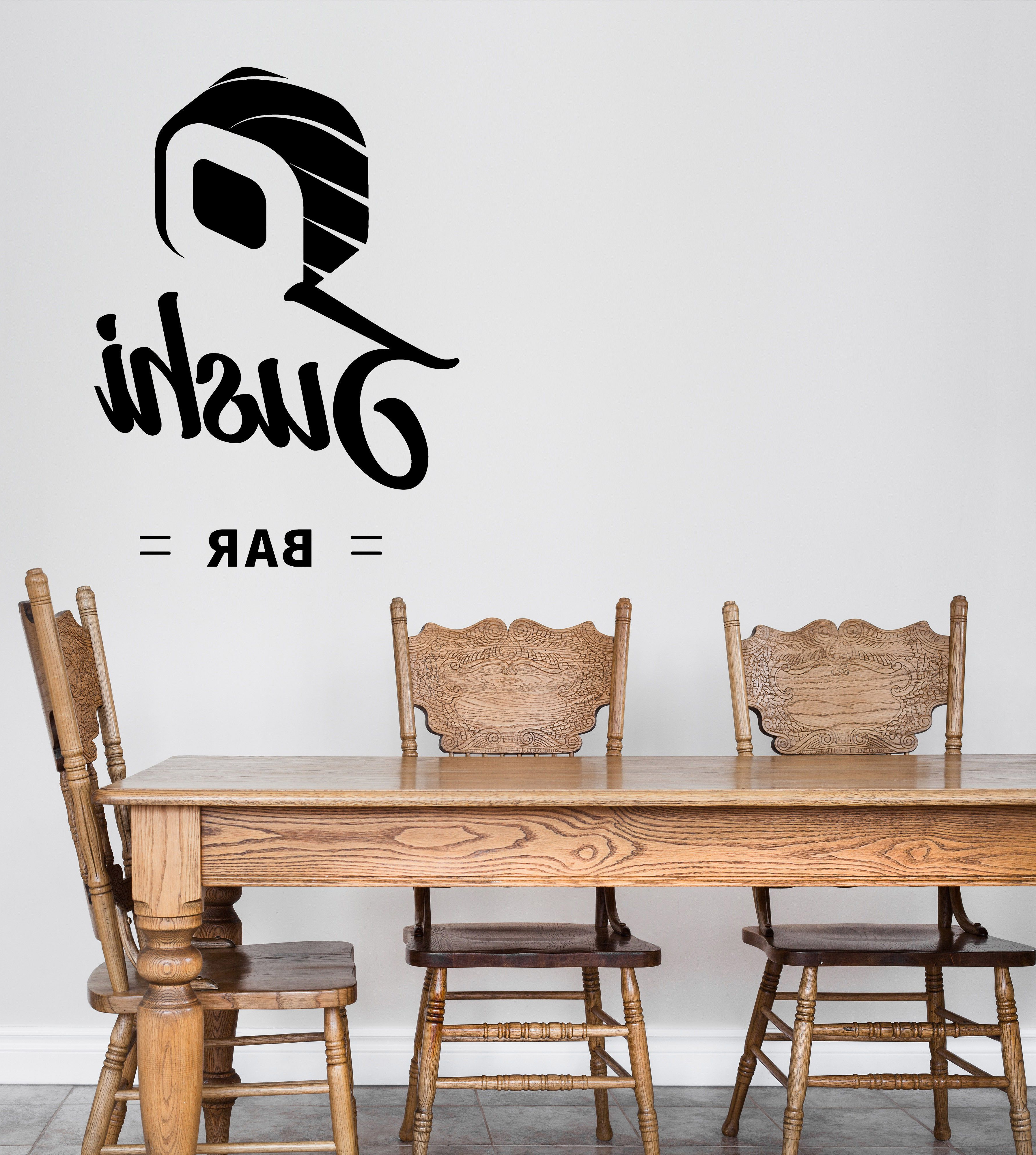 Latest Khacha Coffee Tables In Wall Vinyl Decal Sushi Bar Wasabi Rolls Japanese Food Interior Decor (View 6 of 20)
