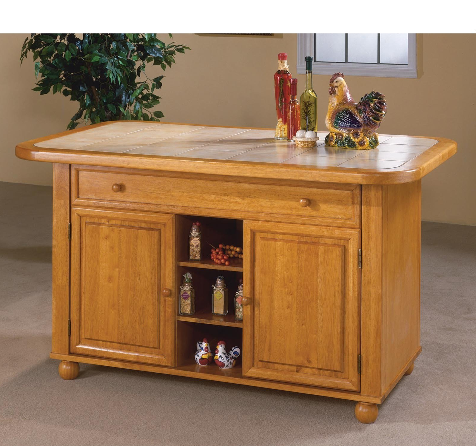 Latest Lockwood Sideboards For Loon Peak Lockwood Kitchen Island With Ceramic Tile Top & Reviews (View 9 of 20)