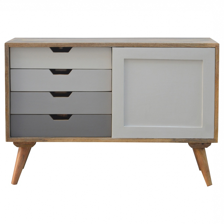 Latest Mango Hill 4 Drawer Cabinet With Sliding Door With Mango Wood Grey 4 Drawer 4 Door Sideboards (View 4 of 20)