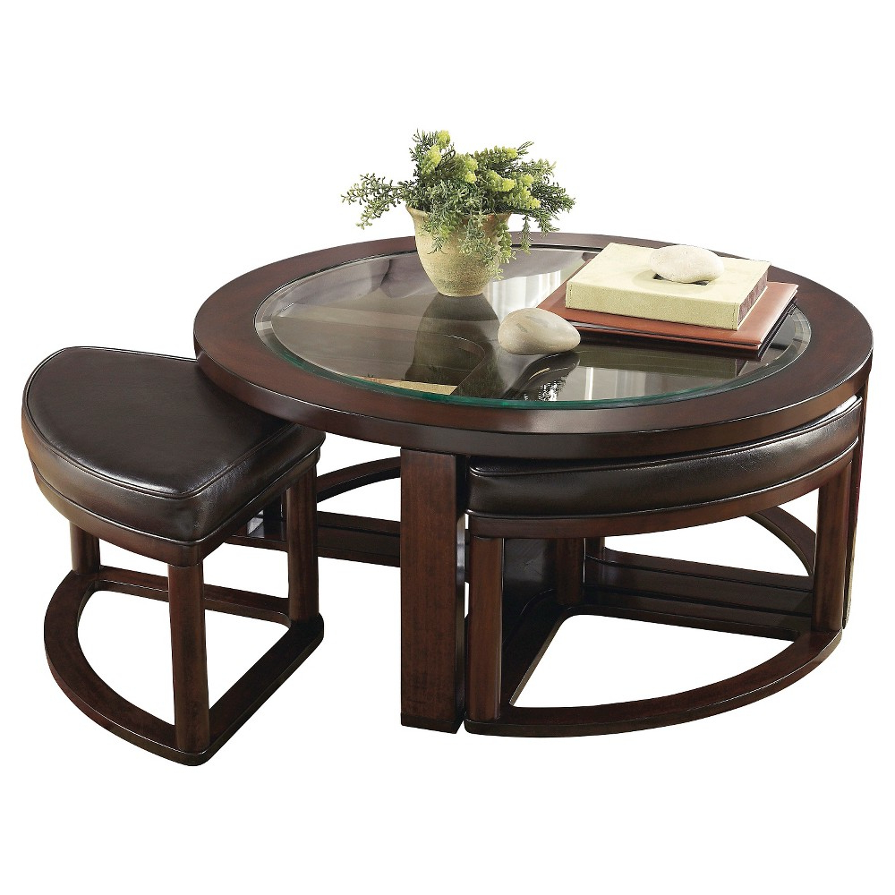 Latest Marion Cocktail Table With 4 Stools Dark Brown (Set Of 5 Within Cody Expandable Cocktail Tables (View 10 of 20)