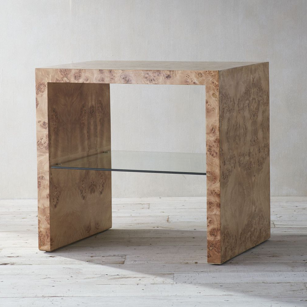 Latest Oslo Burl Wood Veneer Coffee Tables With Oslo Burl Wood Veneer Collection – Side Table (View 3 of 20)