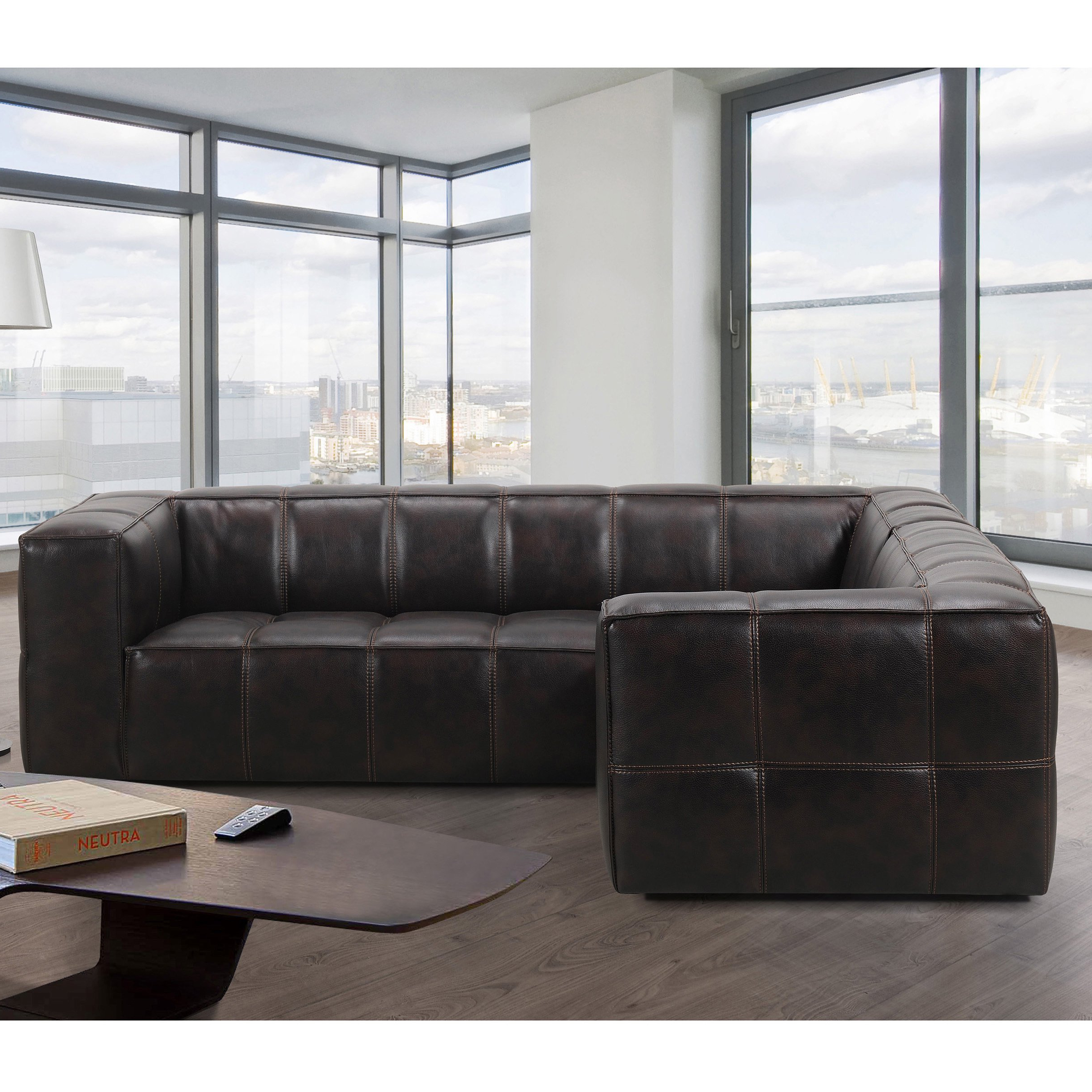 Latest Shop Athens Memory Foam Sectional Sofa – Free Shipping Today Within Mesa Foam 2 Piece Sectionals (View 7 of 20)