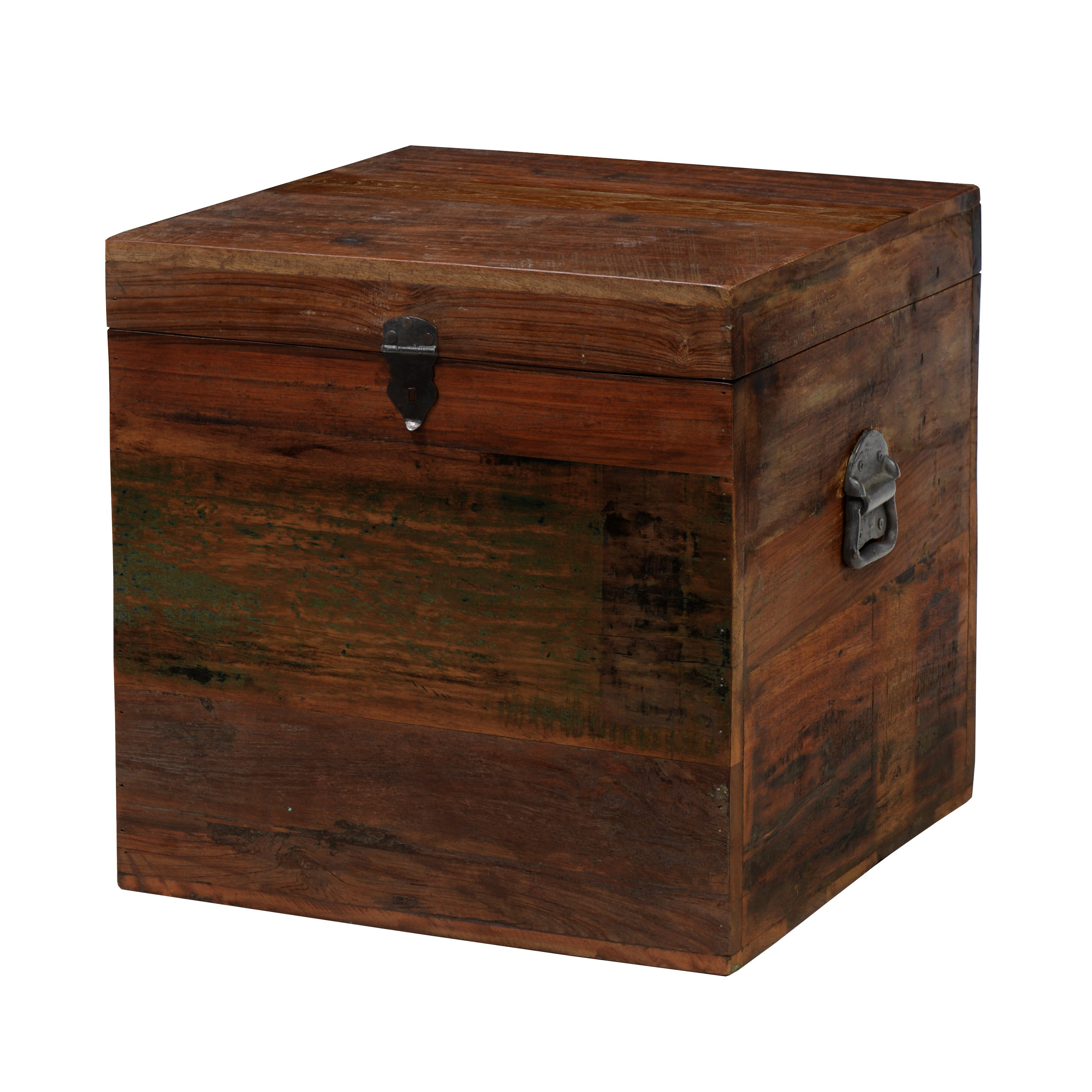 Latest Shop Pine Canopy Pike 18 Inch Reclaimed Wood Square Box – Multi – On Throughout Recycled Pine Stone Side Tables (Gallery 18 of 20)