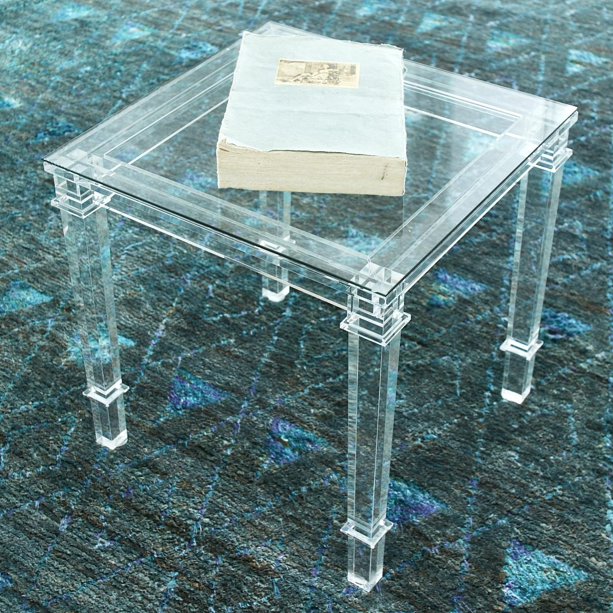 Latest Stately Acrylic Coffee Tables Inside Acrylic Coffee Table Side With Drawer – Arthritismom (View 15 of 20)