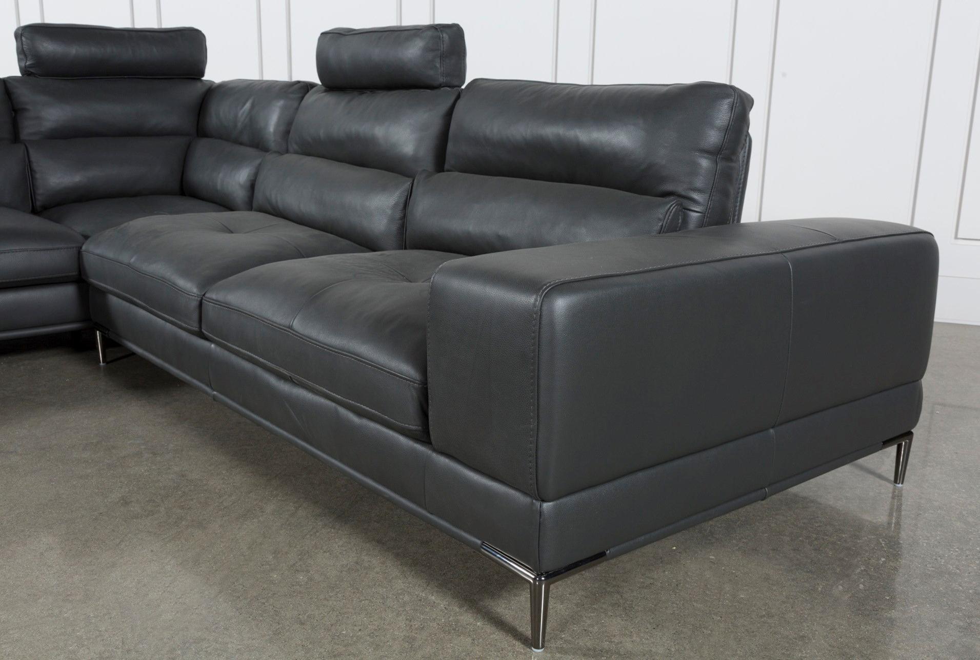 Latest Tenny Dark Grey 2 Piece Right Facing Chaise Sectional W/2 Headrest For Tenny Dark Grey 2 Piece Left Facing Chaise Sectionals With 2 Headrest (View 2 of 20)
