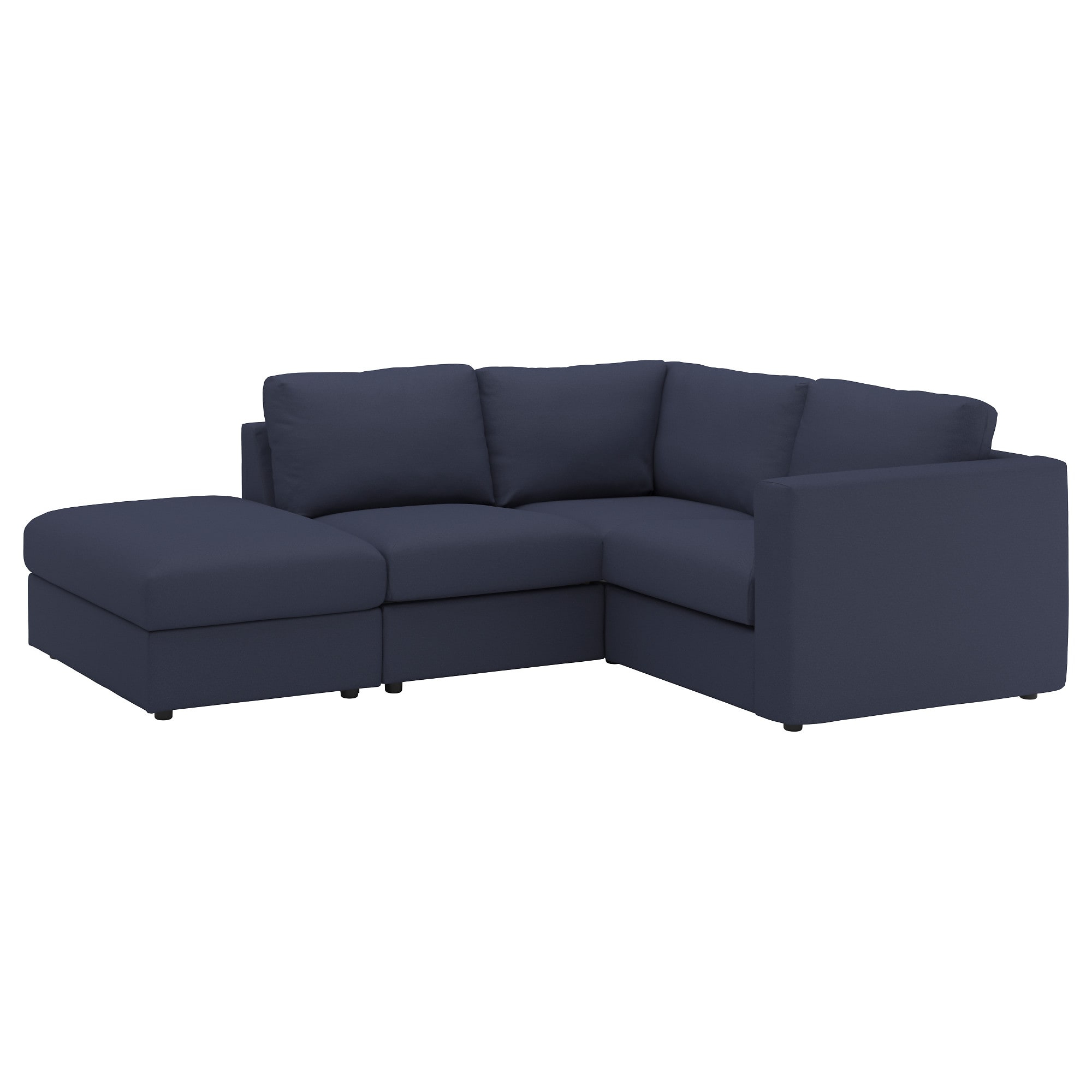 Latest Vimle Sectional, 3 Seat Corner – With Open End/orrsta Black Blue – Ikea With Haven Blue Steel 3 Piece Sectionals (View 11 of 20)