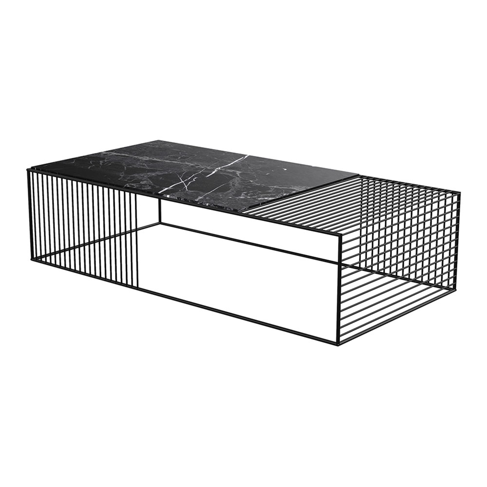 Latest Wire Coffee Table – Black Marble, Black – Rouse Home Pertaining To Black Wire Coffee Tables (View 13 of 20)