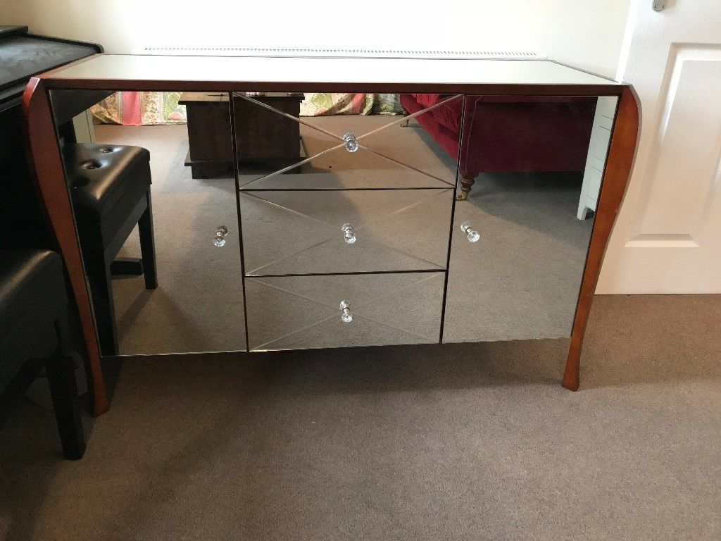 Laura Ashley Charlston Mirrored 2 Door 3 Drawer Sideboard (View 9 of 20)