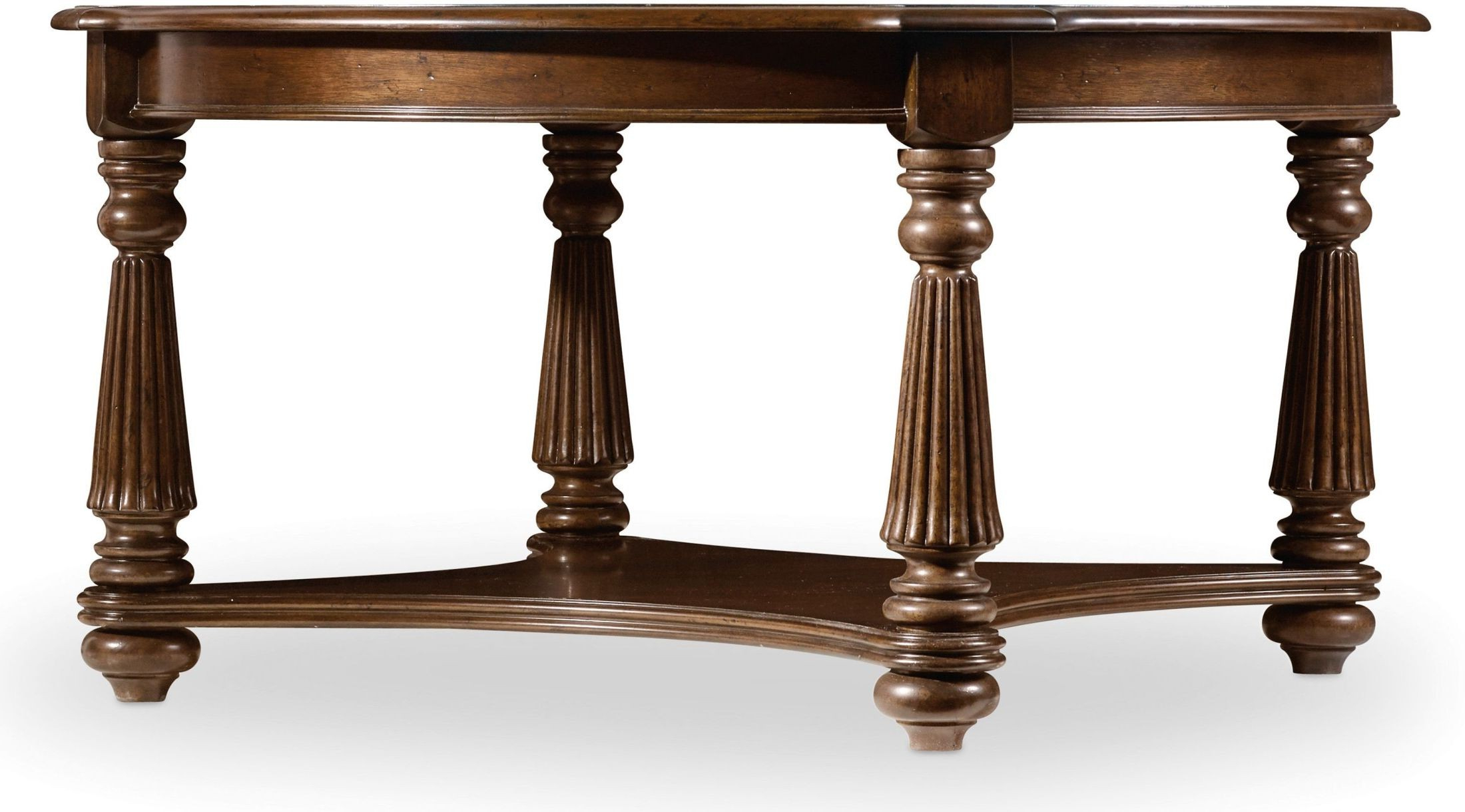 Leesburg Brown Round Cocktail Table From Hooker (View 11 of 20)