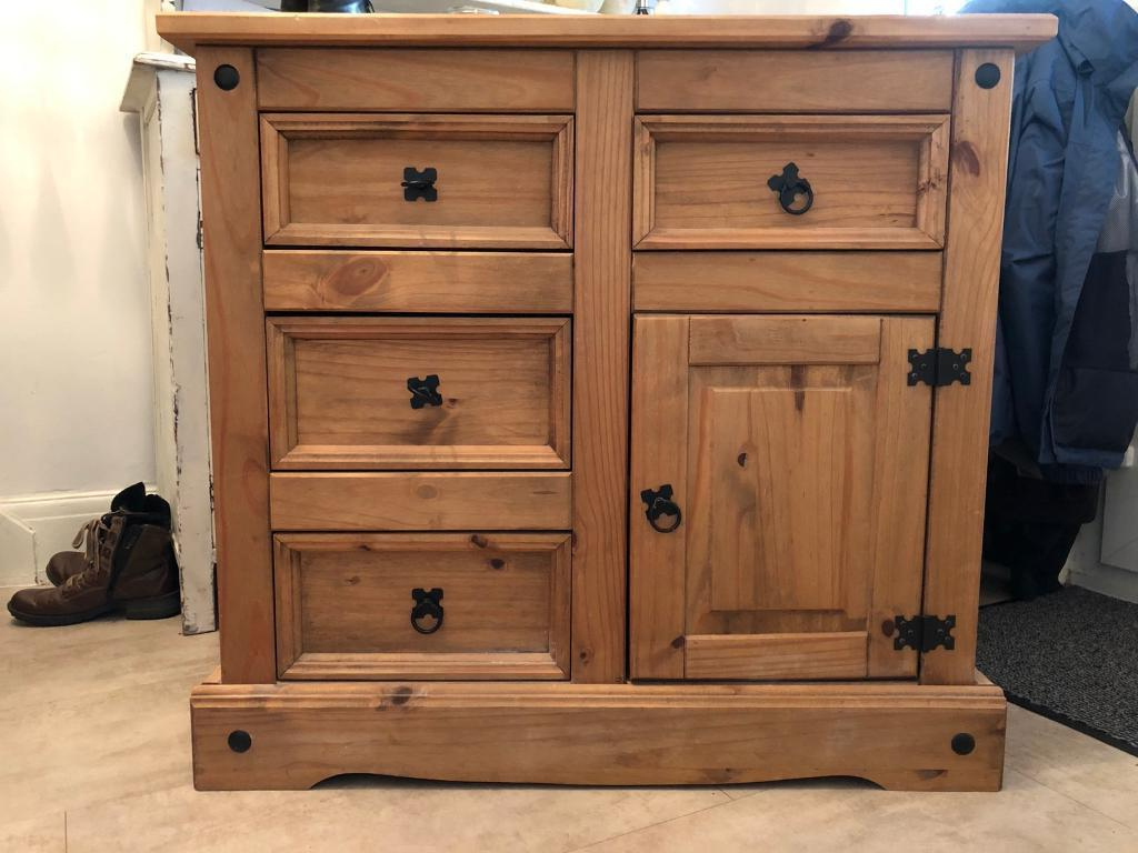 Leven Wine Sideboards Throughout Favorite Mexican Corona Pine Unit Sideboard Cabinet With Drawers (View 13 of 20)
