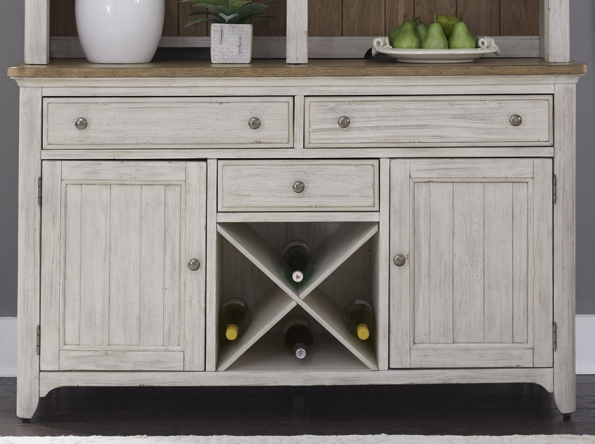 Liberty Farmhouse Reimagined Antique White Buffet – Farmhouse For Trendy Antique White Sideboards (Gallery 16 of 20)