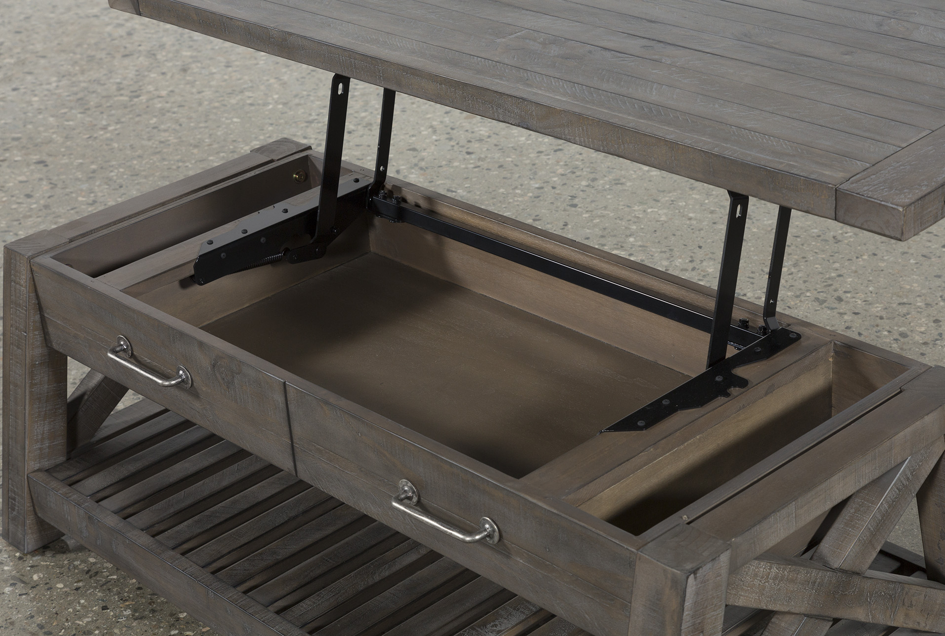 Lid Stay Torsion Hinge Lid Support, Rustic Bronze Throughout Most Current Jaxon Grey Lift Top Cocktail Tables (View 5 of 20)