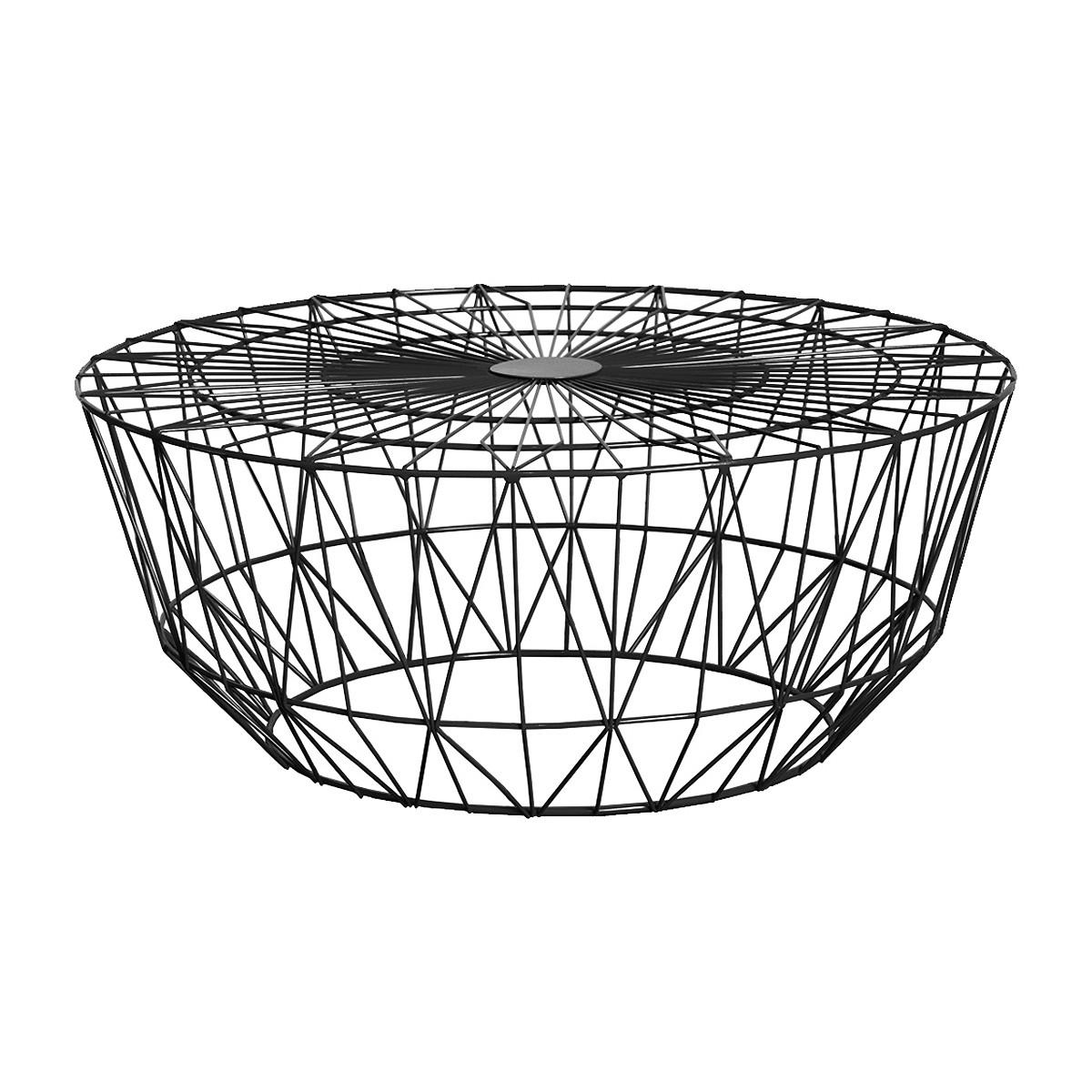 Life Interiors – Studio Wire Coffee Table (Black, 90Cm) – Modern With Famous Black Wire Coffee Tables (View 2 of 20)