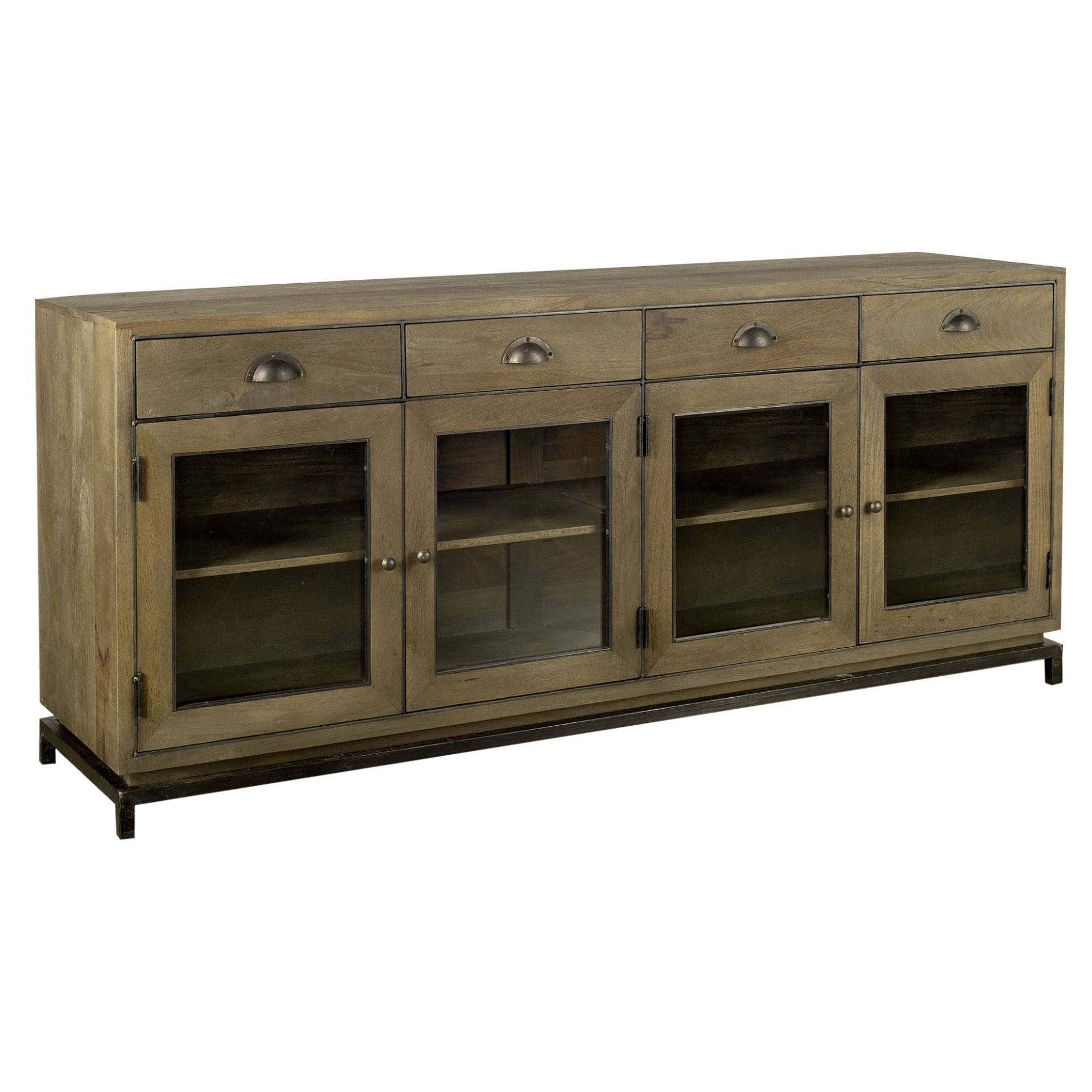 Light Brown Reclaimed Elm & Pine 84 Inch Sideboards With Regard To Fashionable Shop Mercana Simon Tan Wood Sideboard – Free Shipping Today (View 10 of 20)