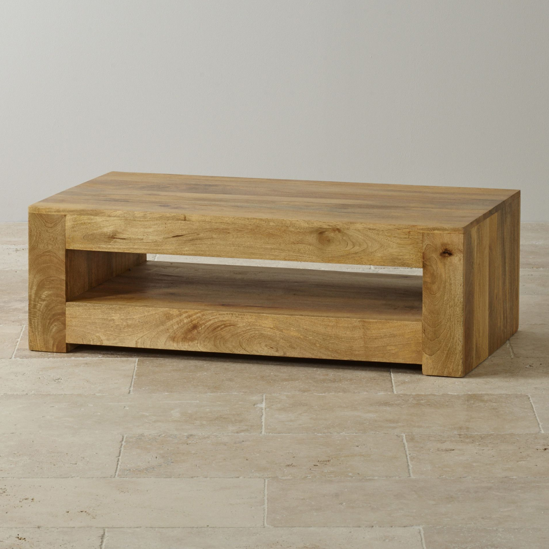 Light Natural Coffee Tables Inside Favorite Mantis Light Natural Solid Mango Coffee Table En  (View 9 of 20)