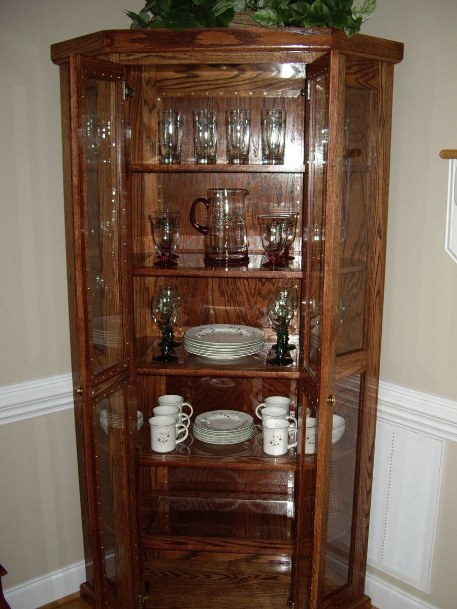 Light Oak Corner China Cabinet – Cabinets Decorating Ideas Throughout Current Rhya 4 Door Sideboards (View 8 of 20)