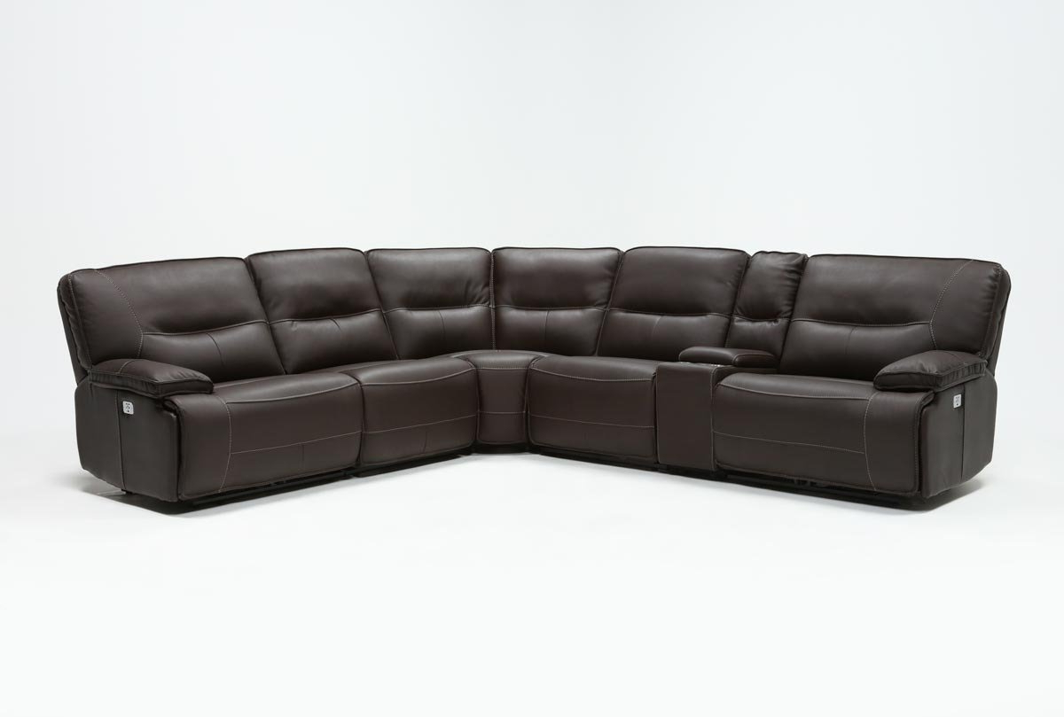 Living Pertaining To Newest Marcus Chocolate 6 Piece Sectionals With Power Headrest And Usb (Gallery 4 of 20)