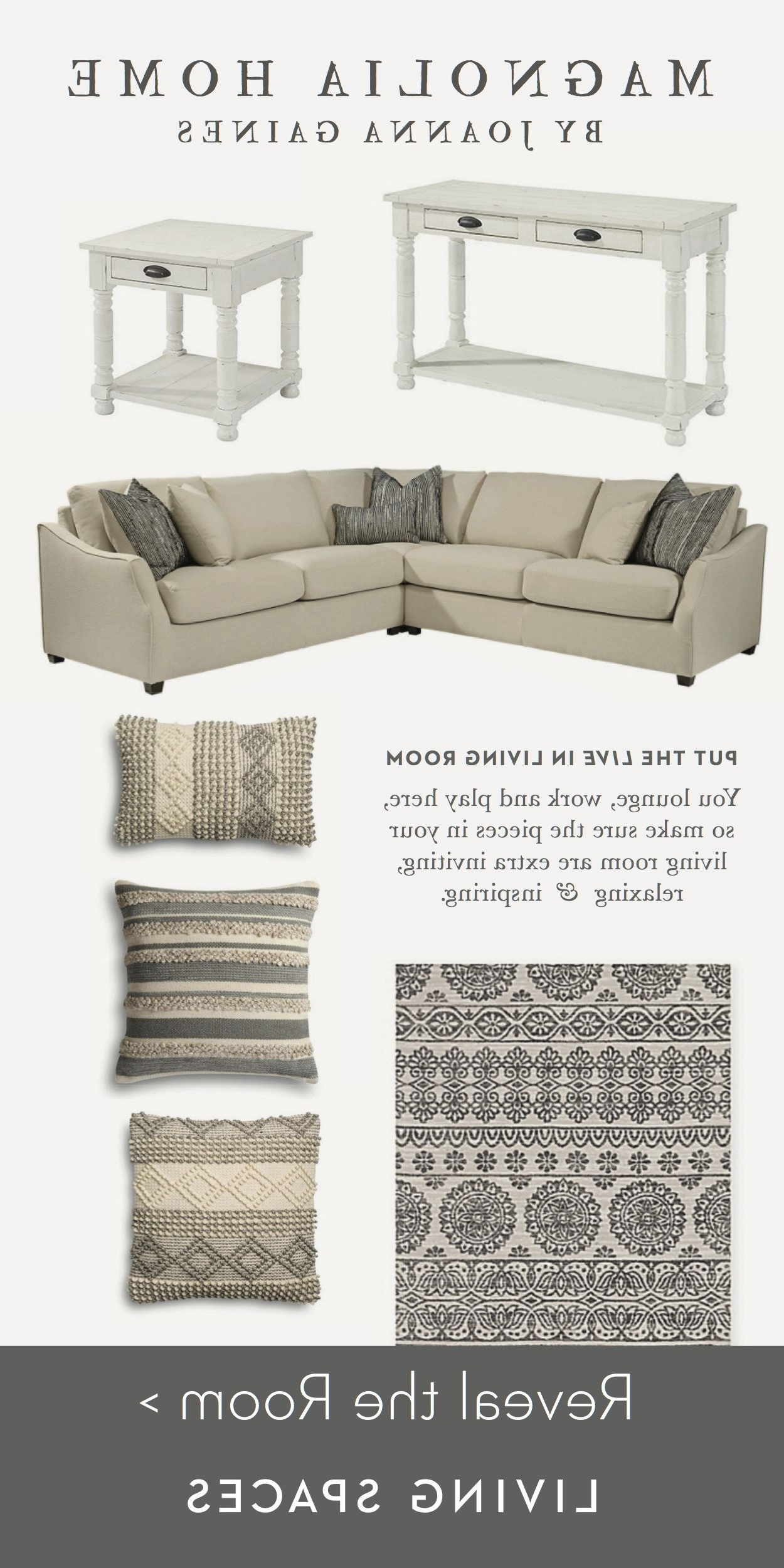 Living Room Inspiration. The Neutral In Magnolia Home Homestead 4 Piece Sectionals By Joanna Gaines (Gallery 16 of 20)