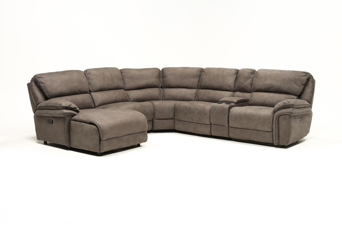 Living Spaces For Favorite Norfolk Grey 3 Piece Sectionals With Laf Chaise (View 14 of 20)