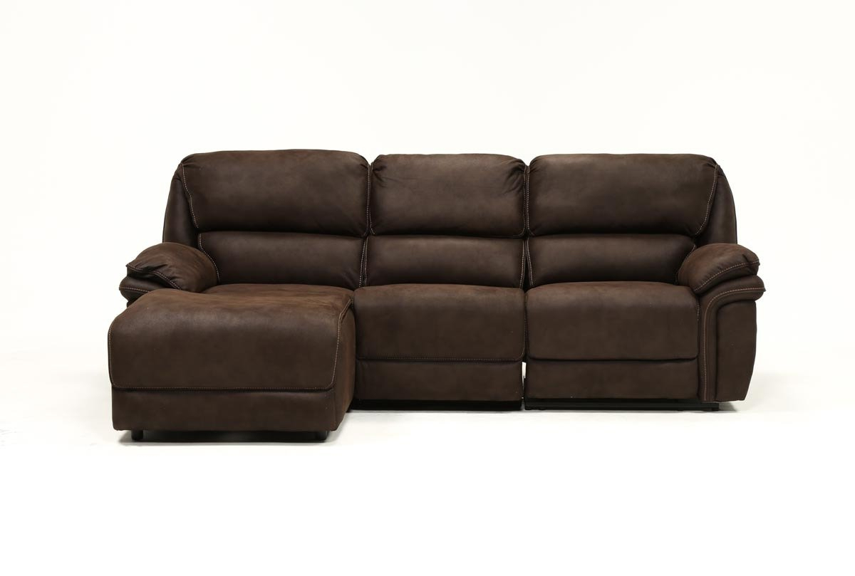 Living Spaces For Norfolk Chocolate 3 Piece Sectionals With Raf Chaise (View 7 of 20)
