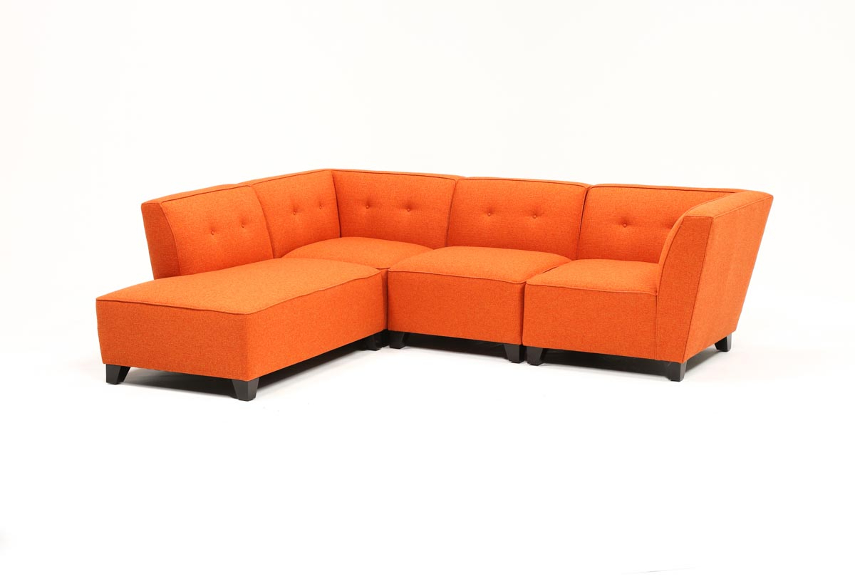 Living Spaces In Benton 4 Piece Sectionals (Gallery 1 of 20)