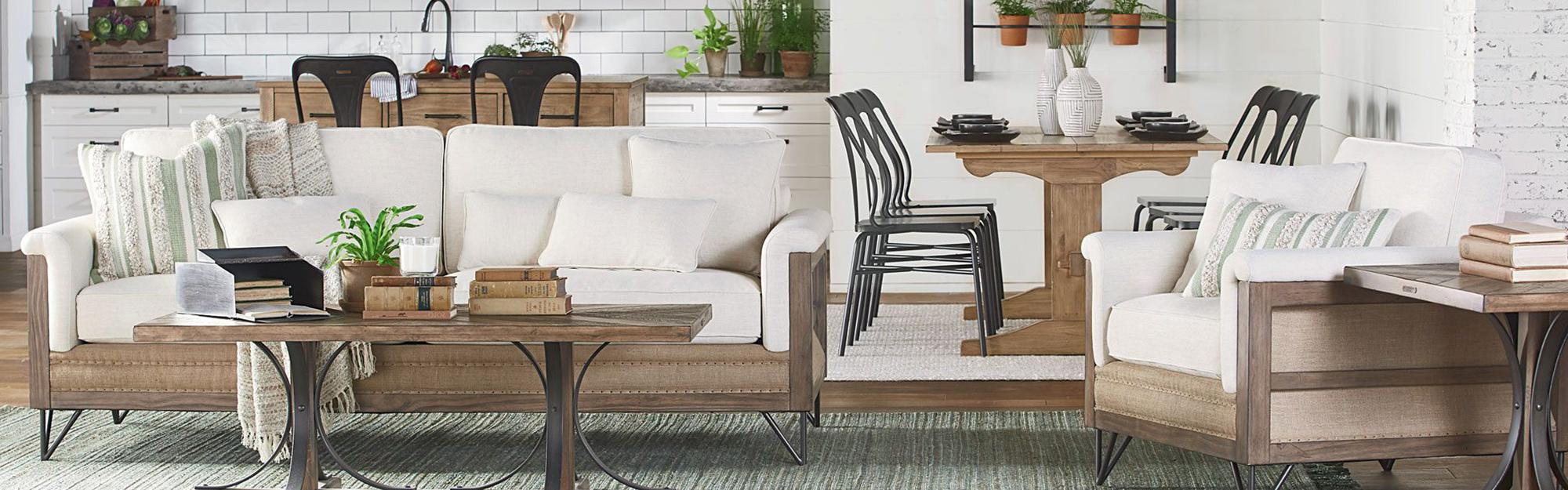 Living Spaces In Trendy Magnolia Home Homestead 4 Piece Sectionals By Joanna Gaines (View 6 of 20)