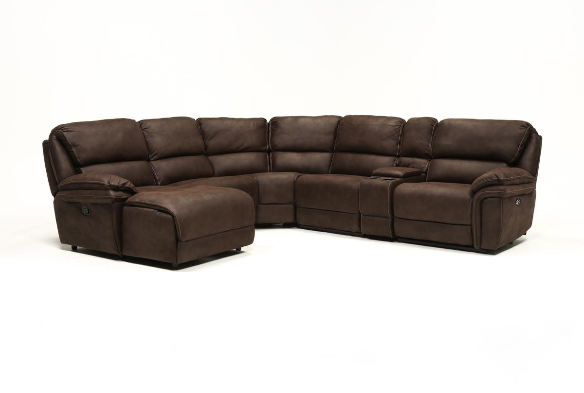 Living Spaces Regarding Well Liked Norfolk Chocolate 6 Piece Sectionals With Raf Chaise (Gallery 1 of 20)