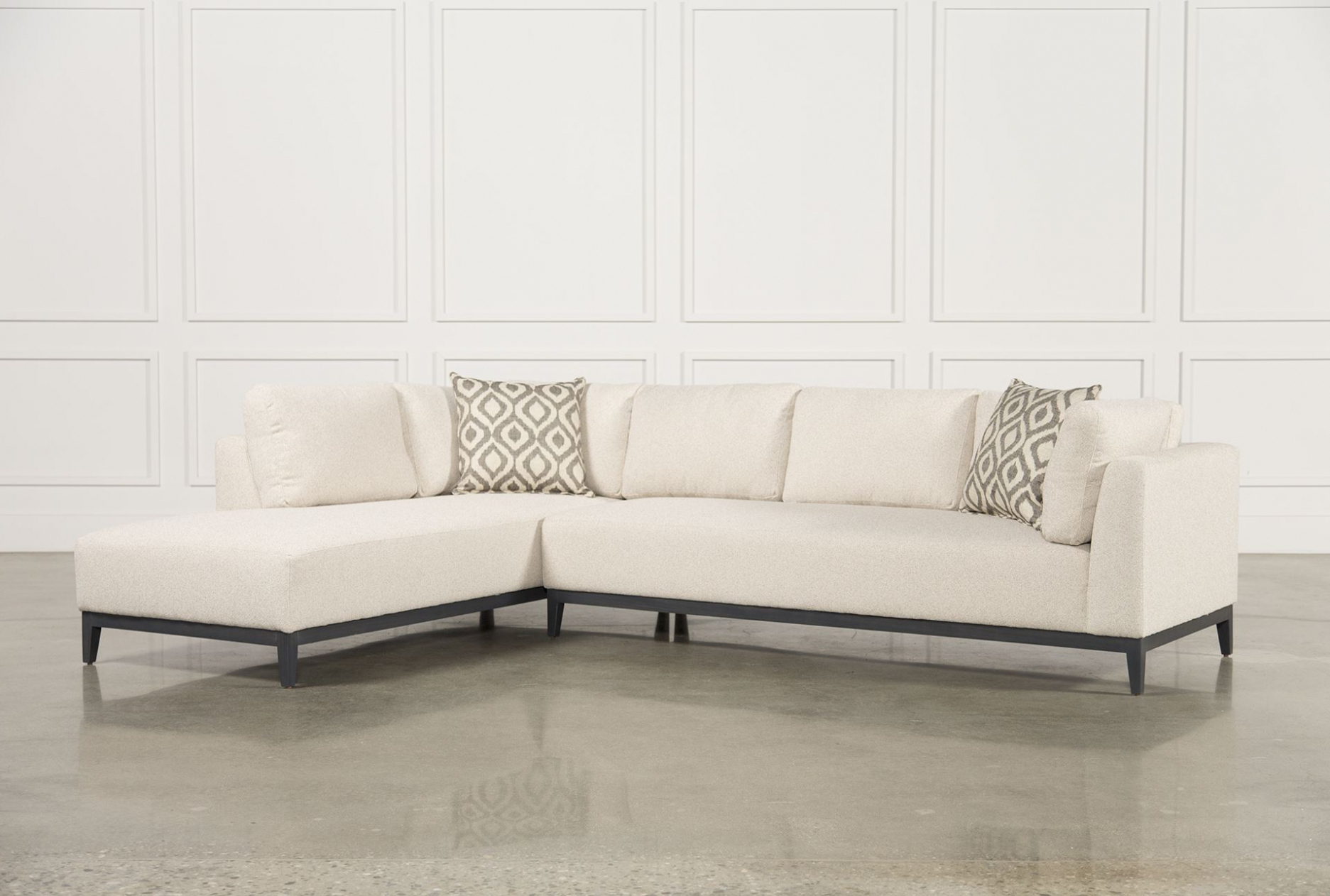 Living Spaces Sectional Couches – Tidex Inside Most Current Aquarius Light Grey 2 Piece Sectionals With Laf Chaise (View 9 of 20)
