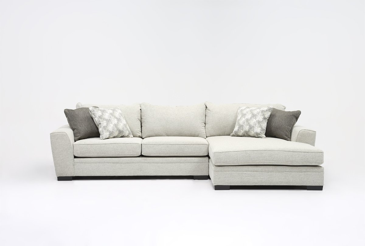 Living Spaces Throughout Delano 2 Piece Sectionals With Raf Oversized Chaise (Gallery 1 of 20)