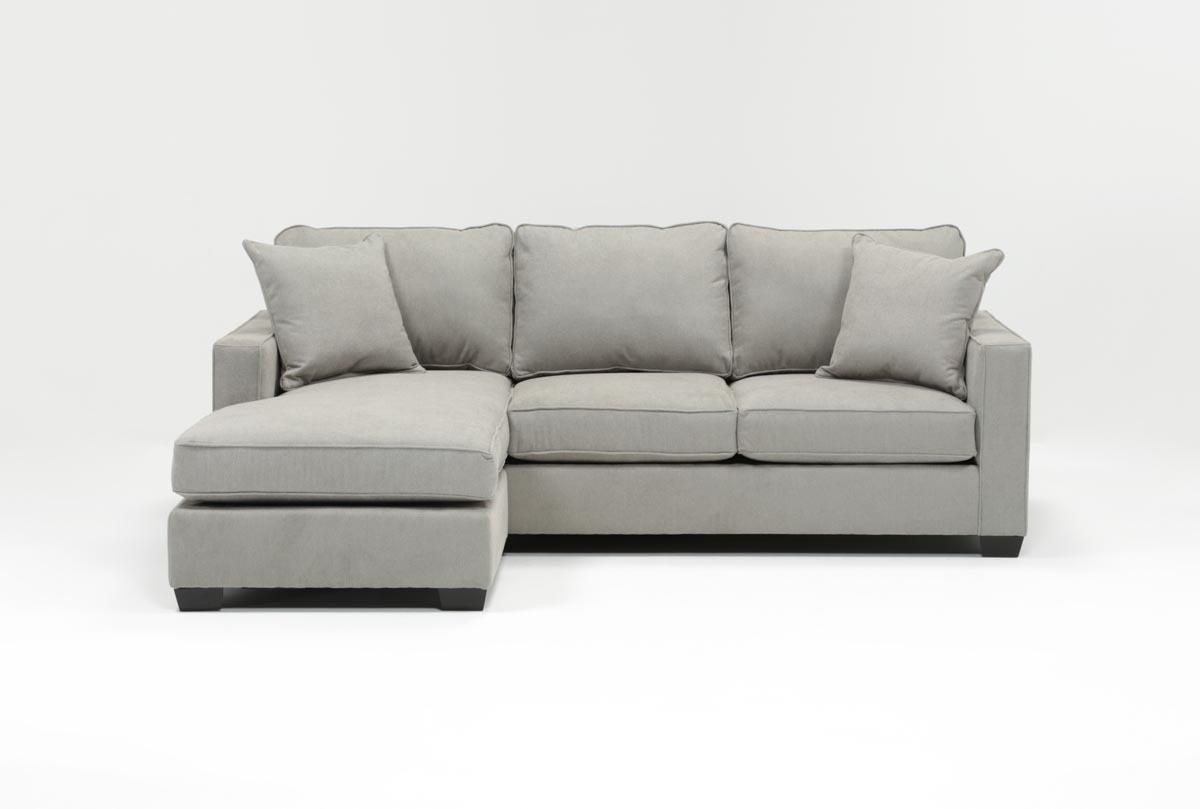 Living Spaces Throughout Egan Ii Cement Sofa Sectionals With Reversible Chaise (Gallery 1 of 20)