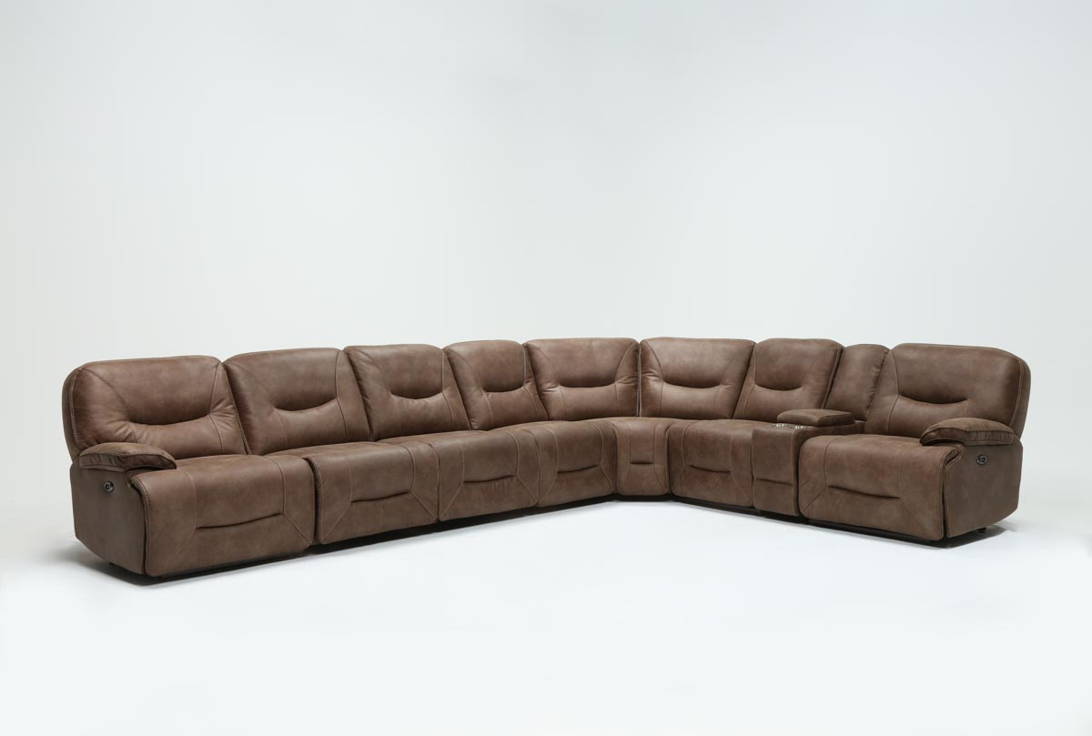 Living Spaces Throughout Jackson 6 Piece Power Reclining Sectionals With  Sleeper (Gallery 1 of 20)
