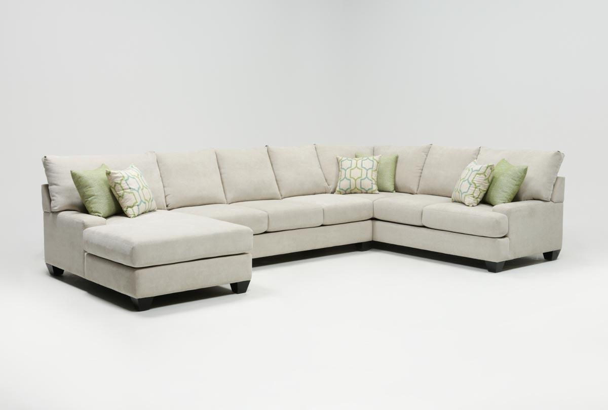 Living Spaces With Regard To Malbry Point 3 Piece Sectionals With Raf Chaise (View 9 of 20)