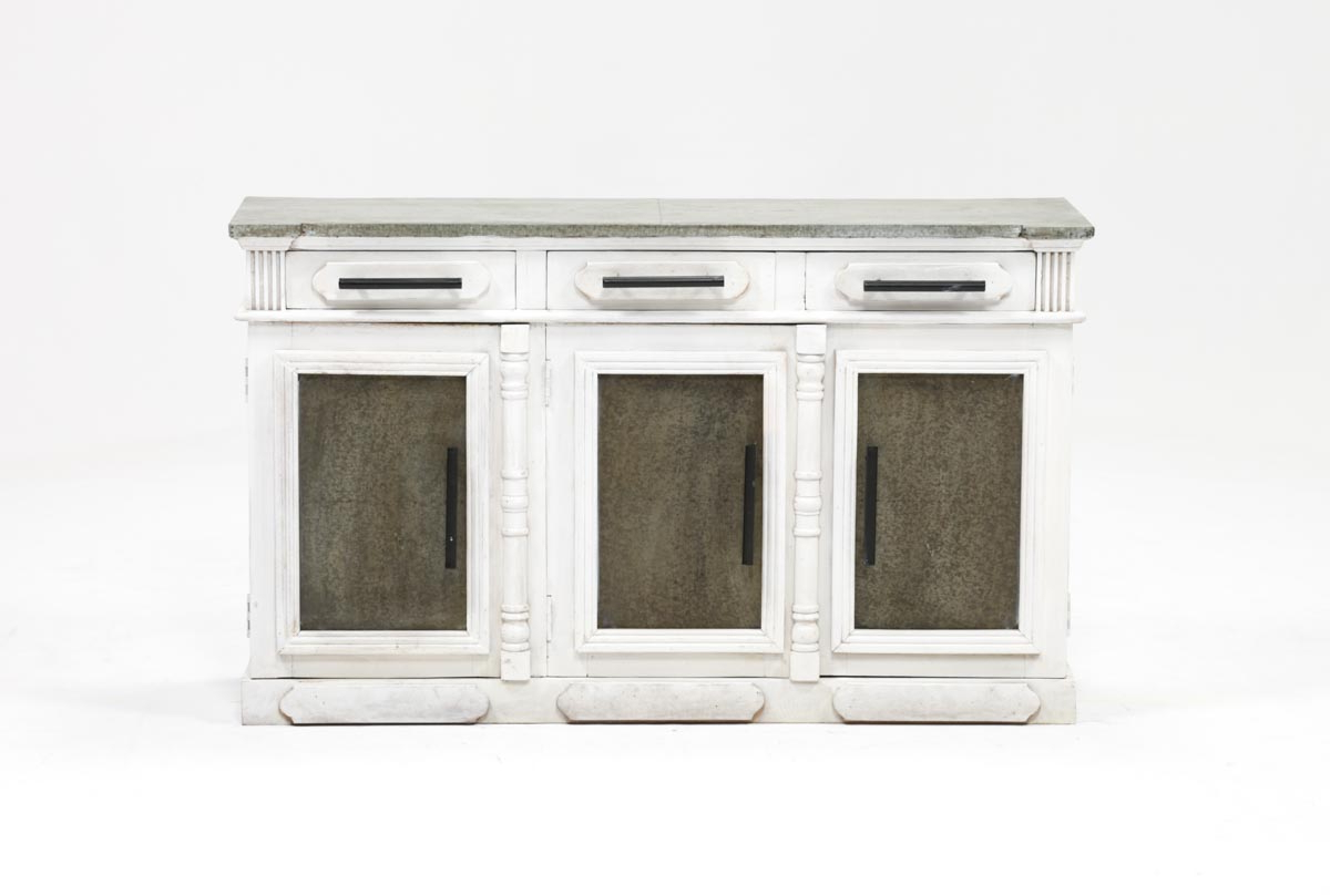 Living Spaces Within White Wash 4 Door Galvanized Sideboards (View 9 of 20)
