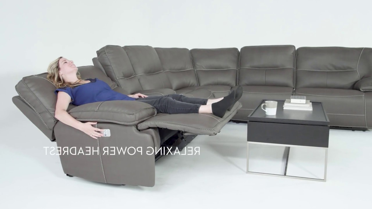 Featured Photo of Marcus Grey 6 Piece Sectionals With  Power Headrest & Usb