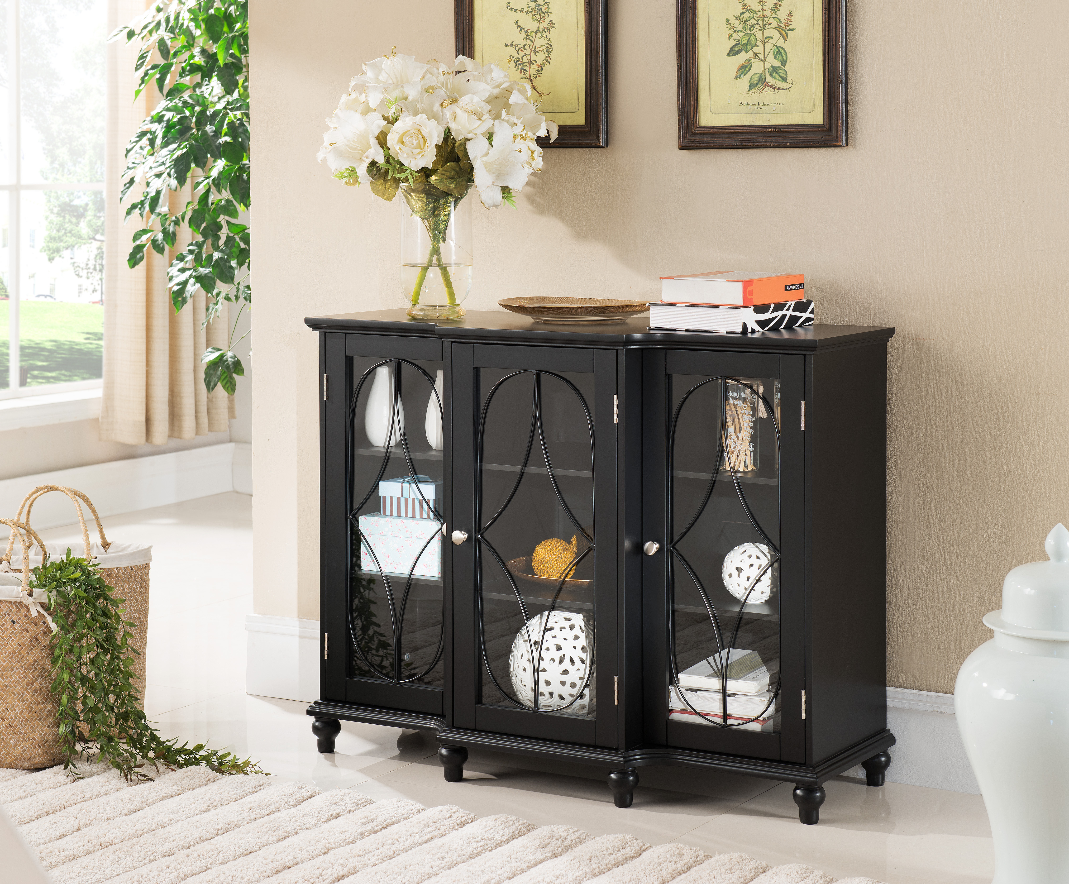 Logan Black Wood Contemporary Sideboard Buffet Console Table China For 2019 Logan Sideboards (Gallery 16 of 20)