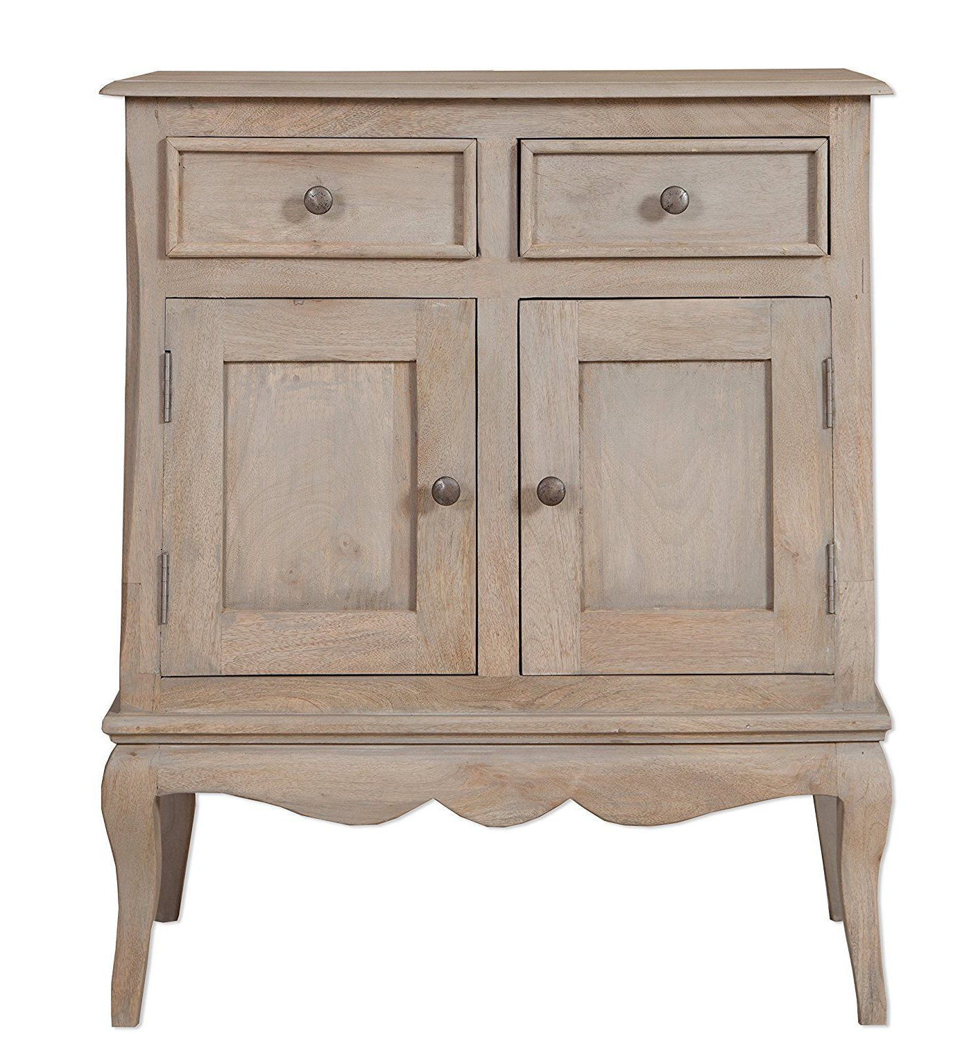 Loire French Grey Solid Mango Wood 2 Door 2 Drawer Hallway Cabinet Throughout Most Up To Date Mango Wood 2 Door/2 Drawer Sideboards (Gallery 11 of 20)