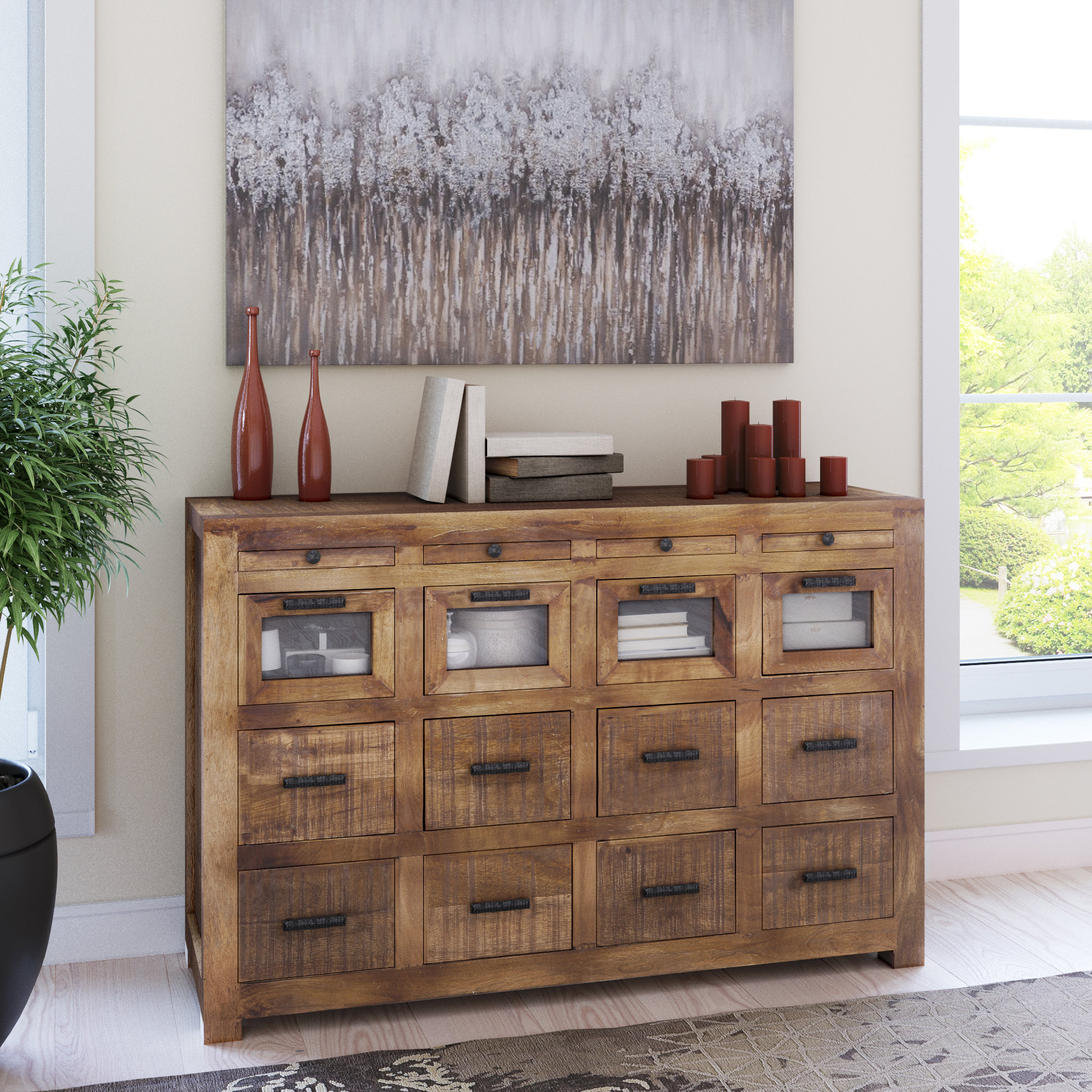 Loon Peak Anatole Craftsman 12 Drawer Sideboard (Gallery 10 of 20)