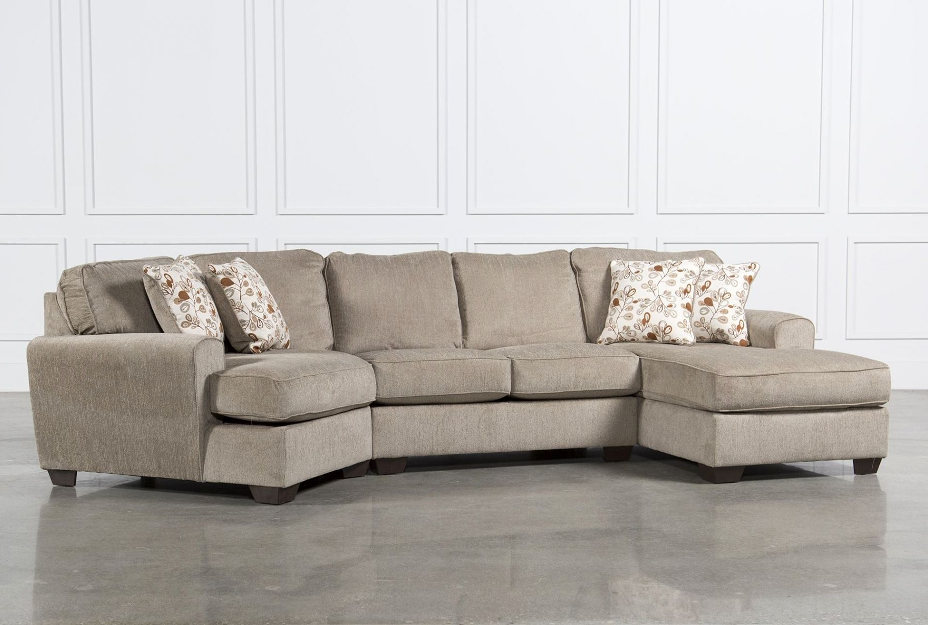 Lovely Sectional Sofas With Recliners And Cup Holders Photographs For Latest Sierra Down 3 Piece Sectionals With Laf Chaise (View 2 of 20)