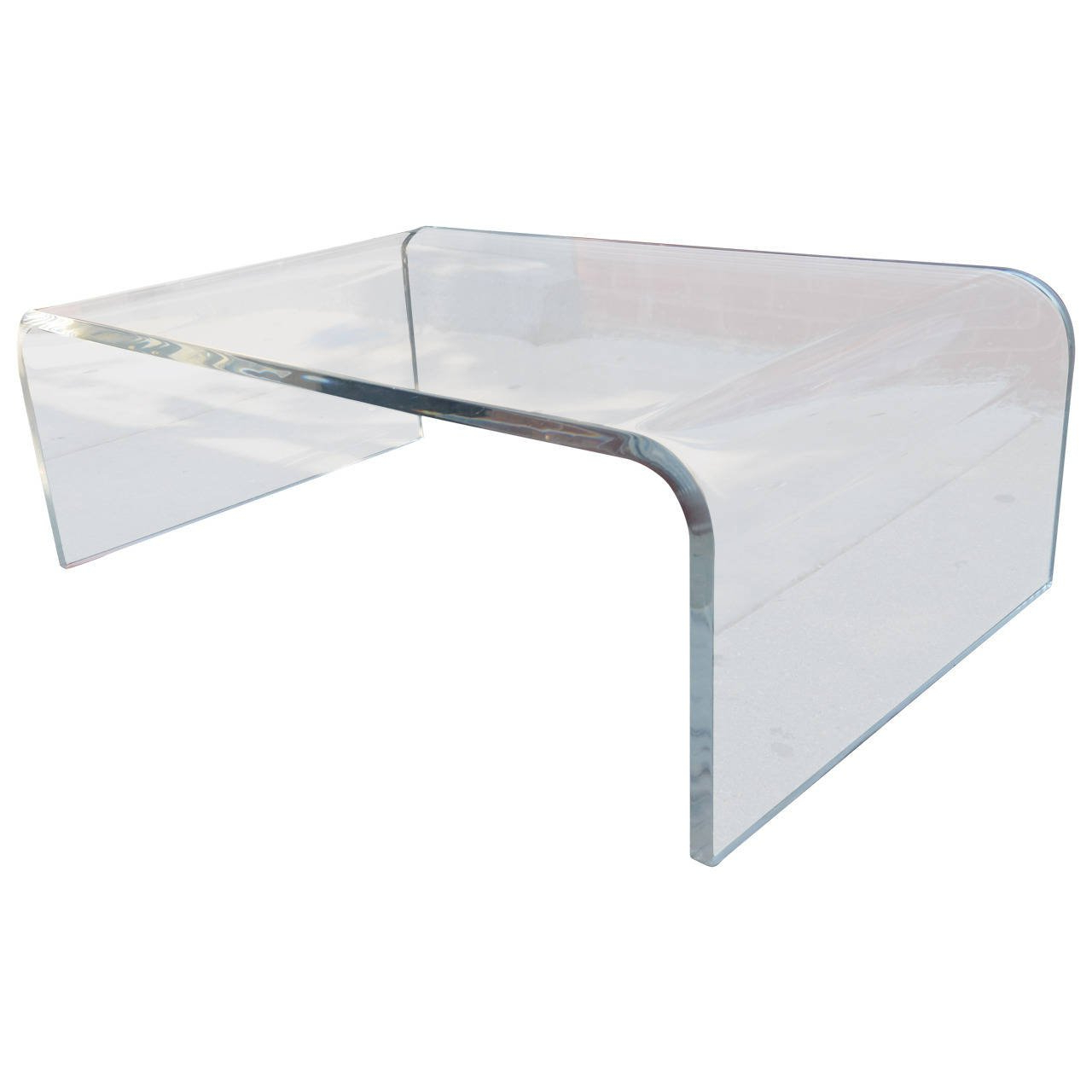 Lucite Waterfall Coffee Table At 1Stdibs Pertaining To Most Popular Waterfall Coffee Tables (Gallery 1 of 20)